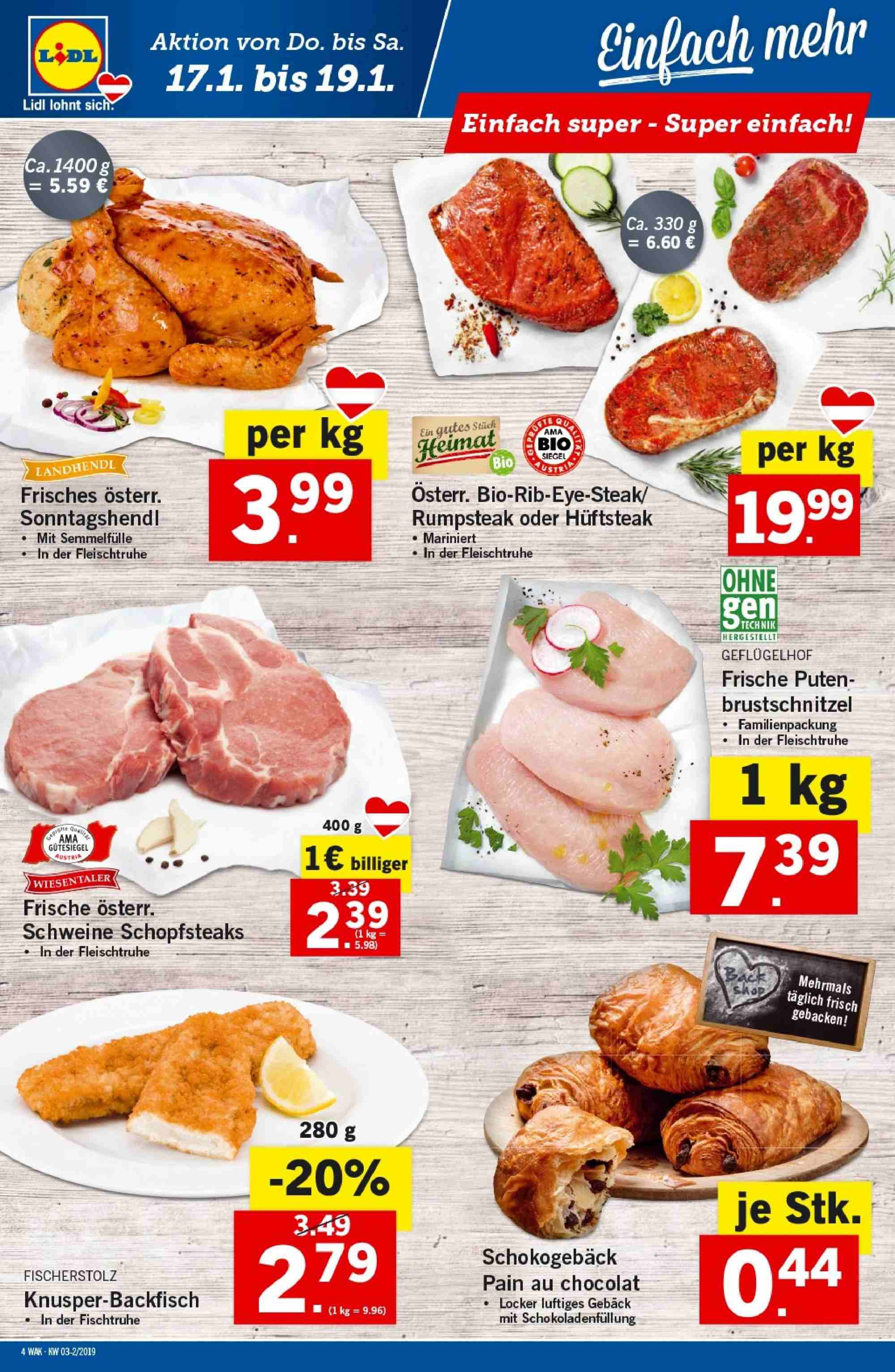 Angebote Lidl - 17.1.2019 - 23.1.2019. Seite 4.