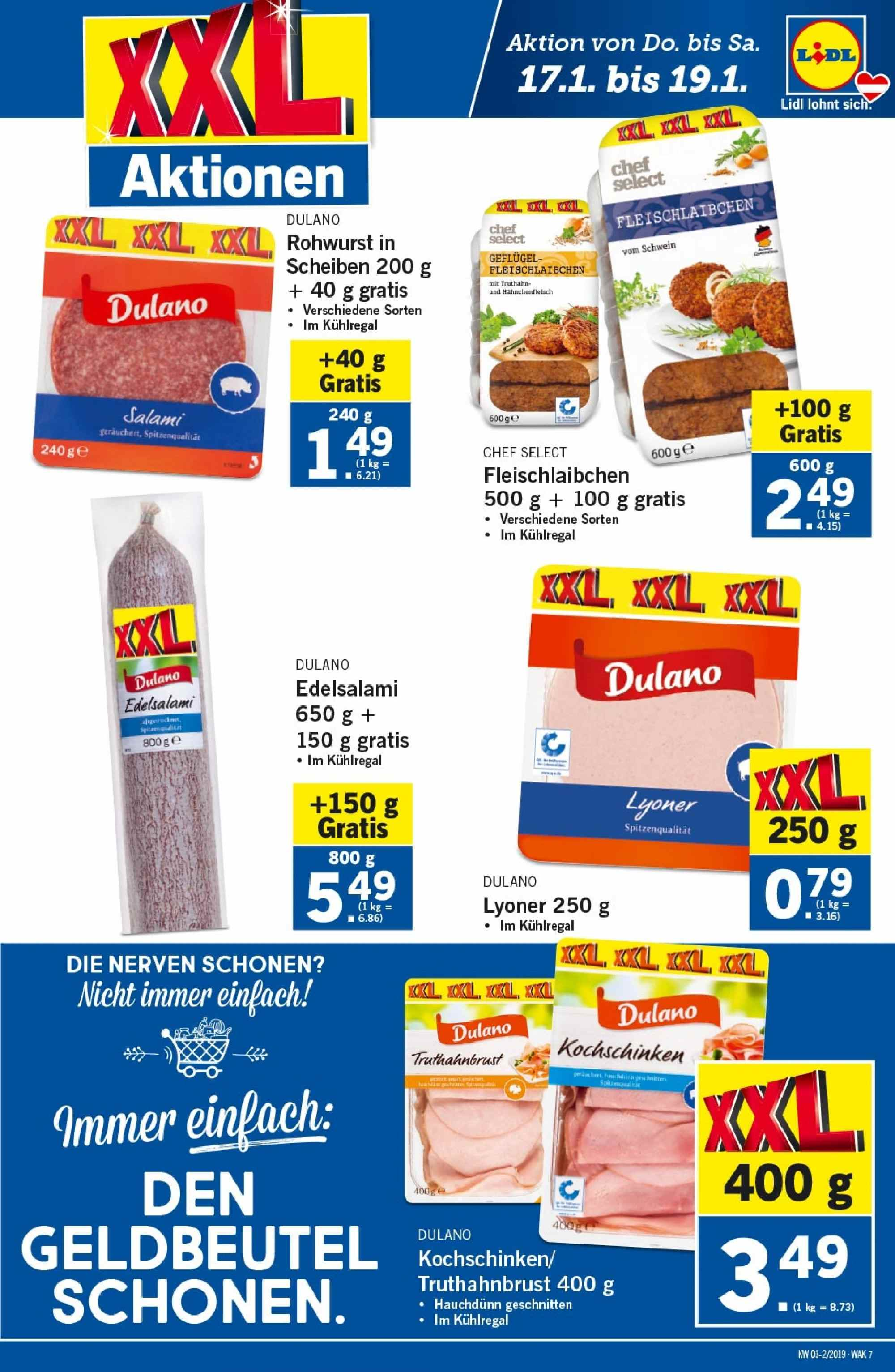 Angebote Lidl - 17.1.2019 - 23.1.2019. Seite 7.