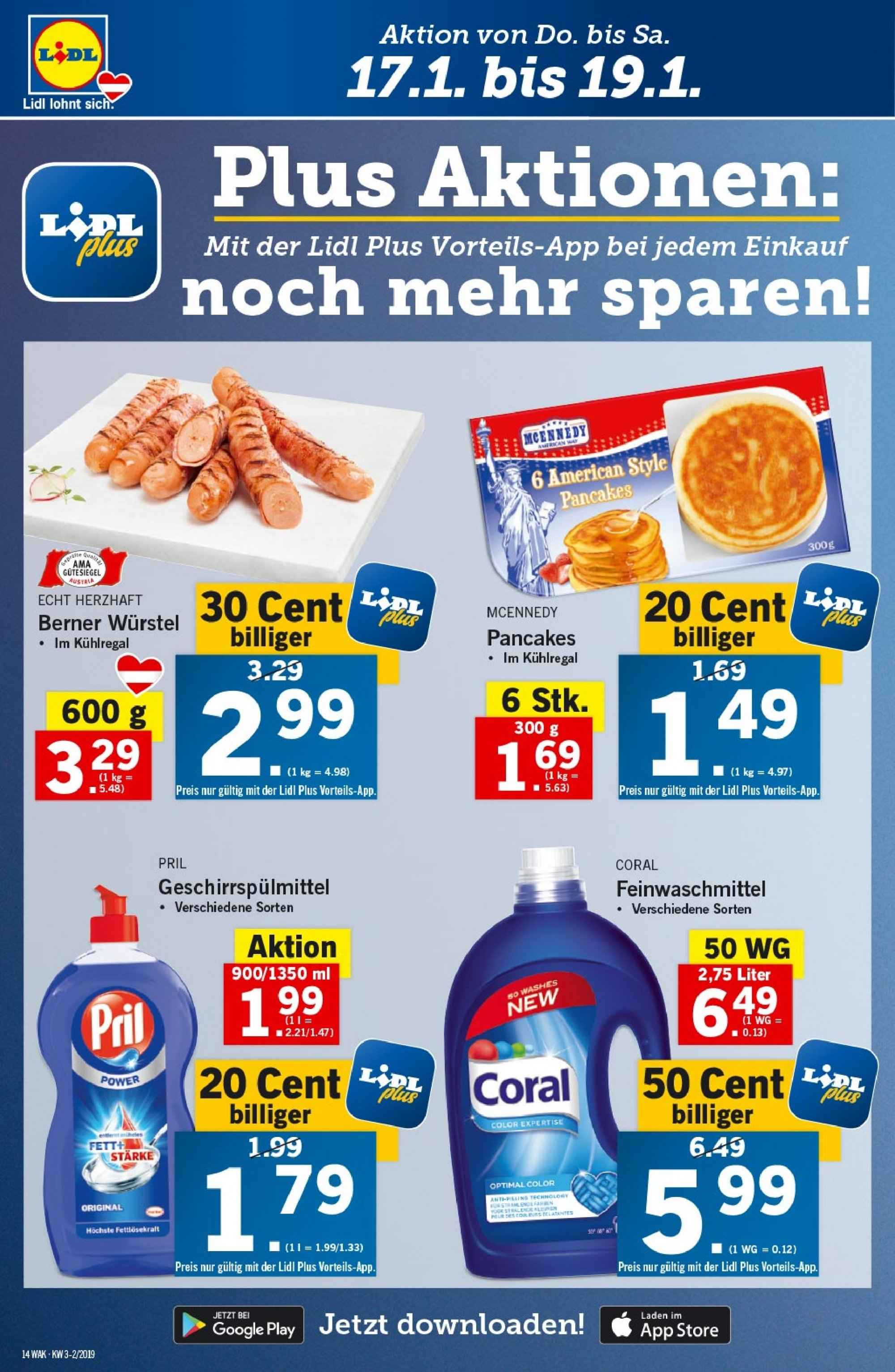Angebote Lidl - 17.1.2019 - 23.1.2019. Seite 14.