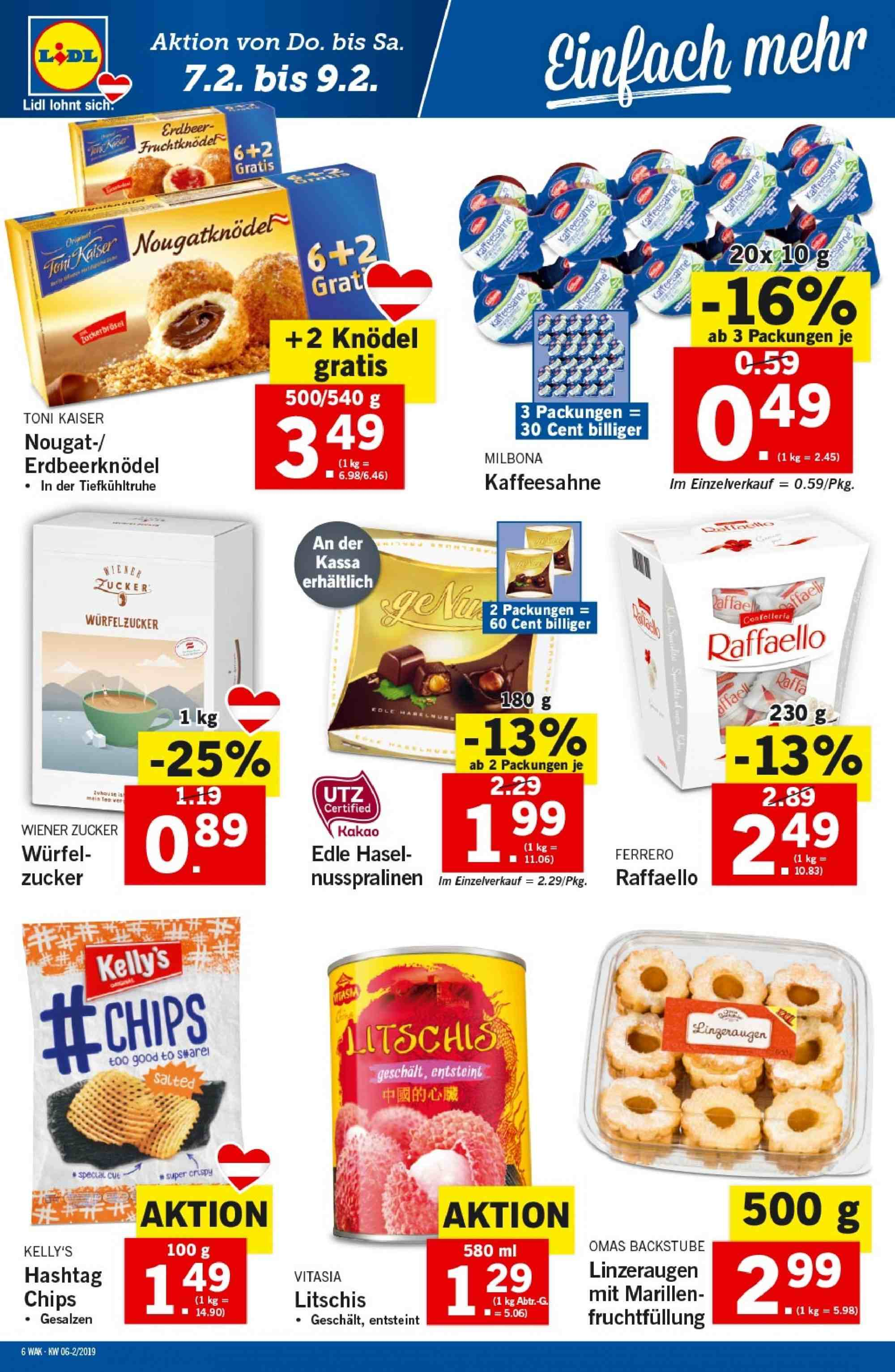 Angebote Lidl - 7.2.2019 - 13.2.2019. Seite 6.