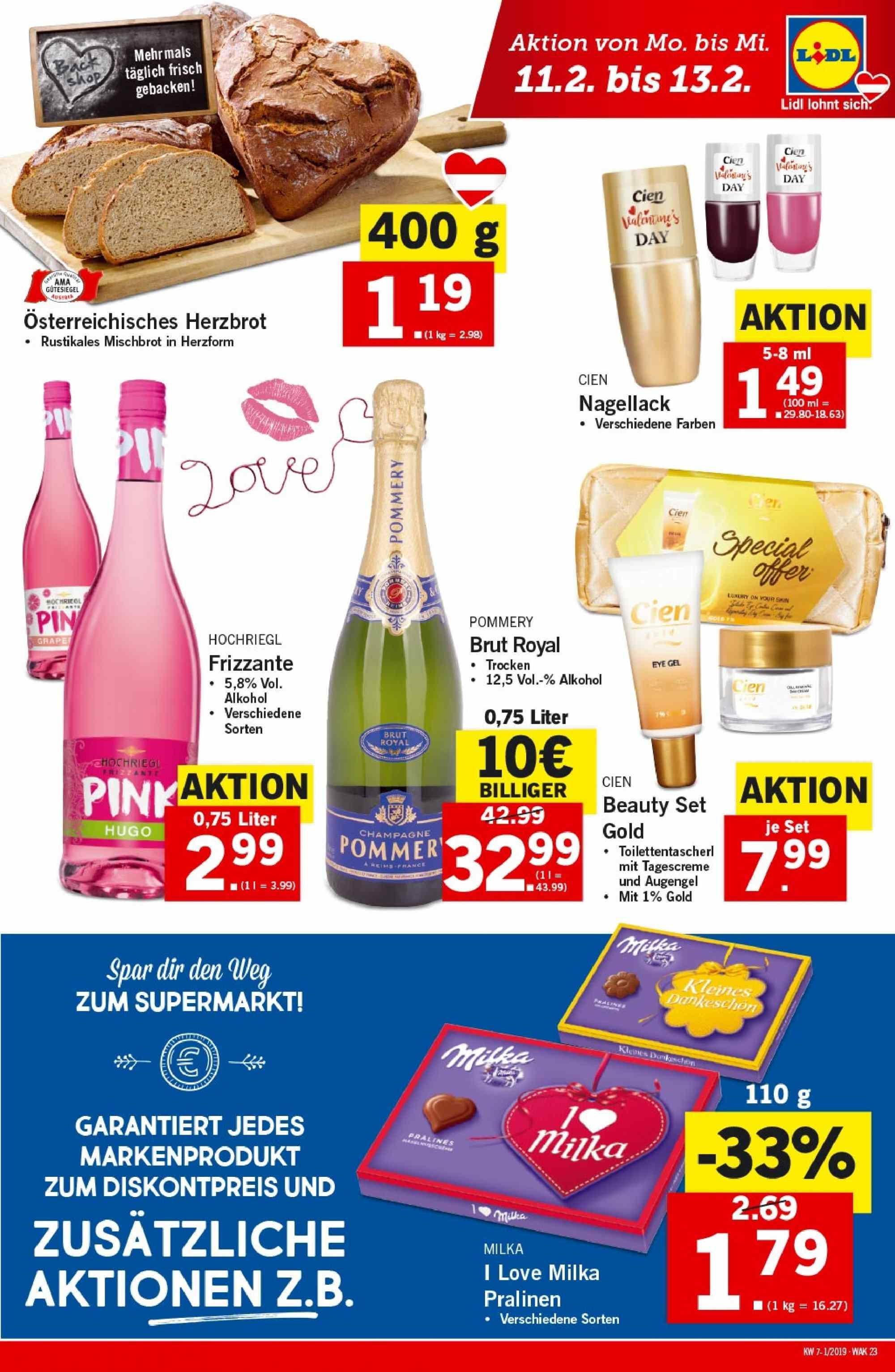 Angebote Lidl - 7.2.2019 - 13.2.2019. Seite 23.