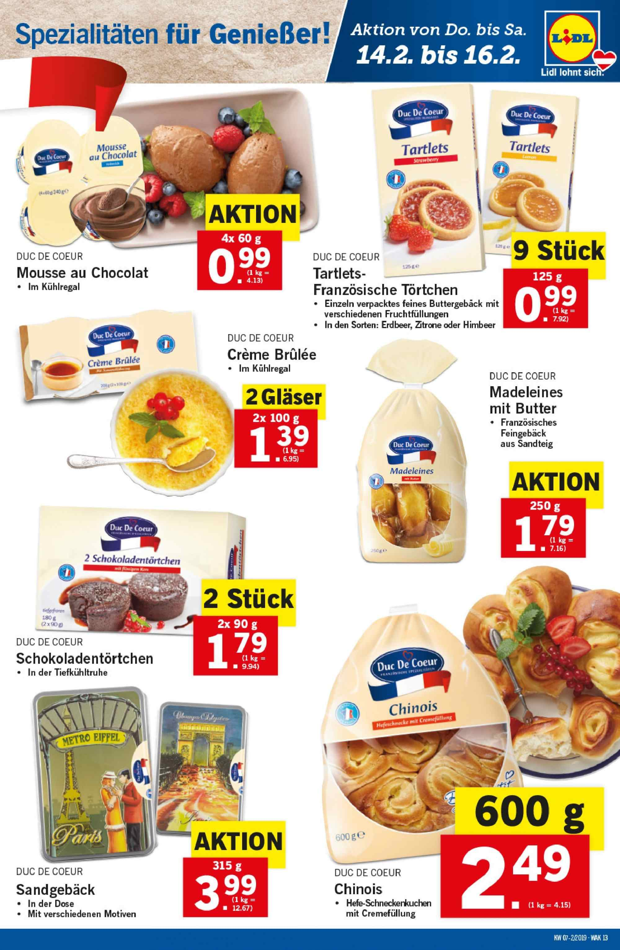 Angebote Lidl - 14.2.2019 - 20.2.2019. Seite 13.