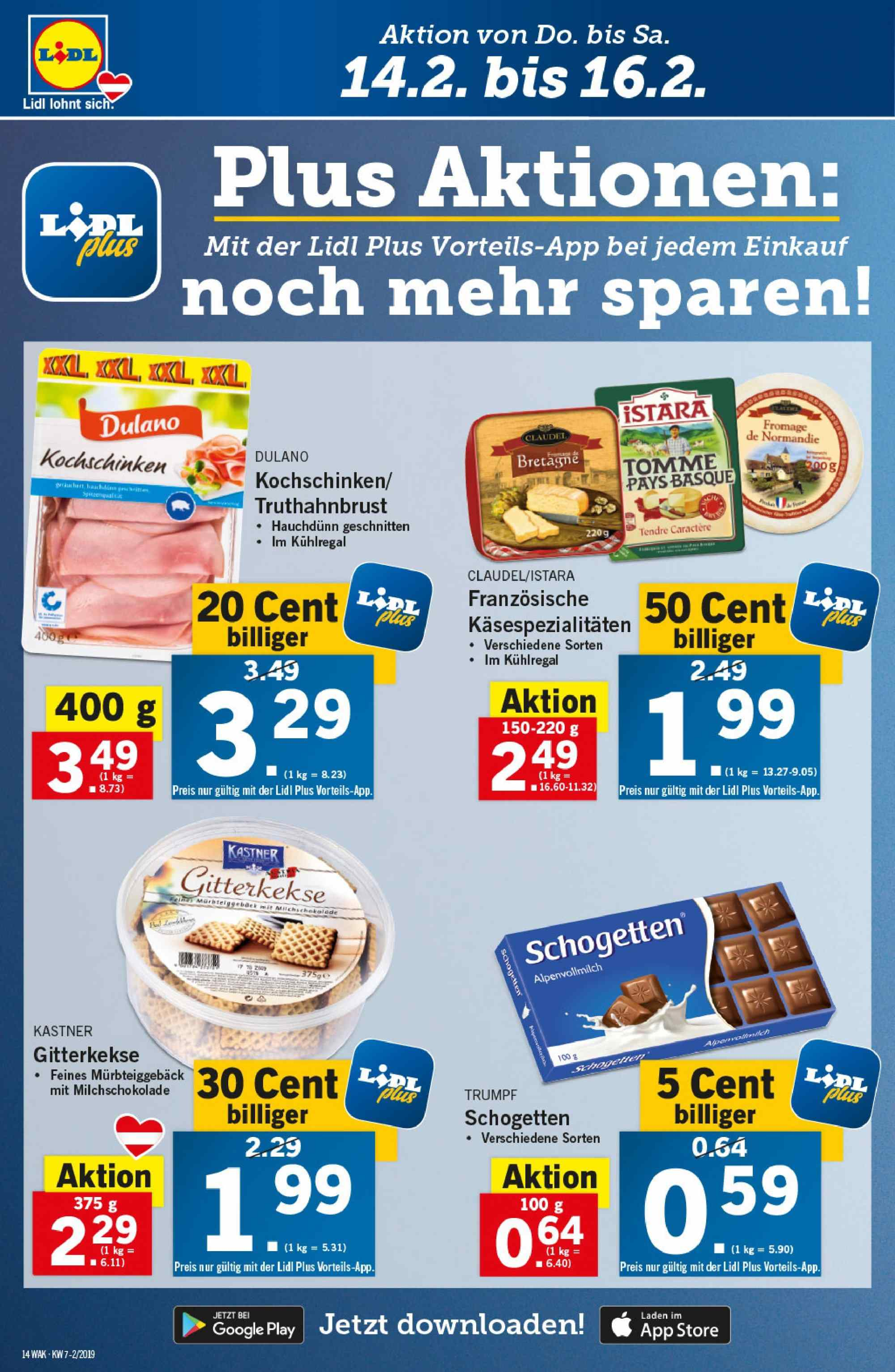 Angebote Lidl - 14.2.2019 - 20.2.2019. Seite 14.