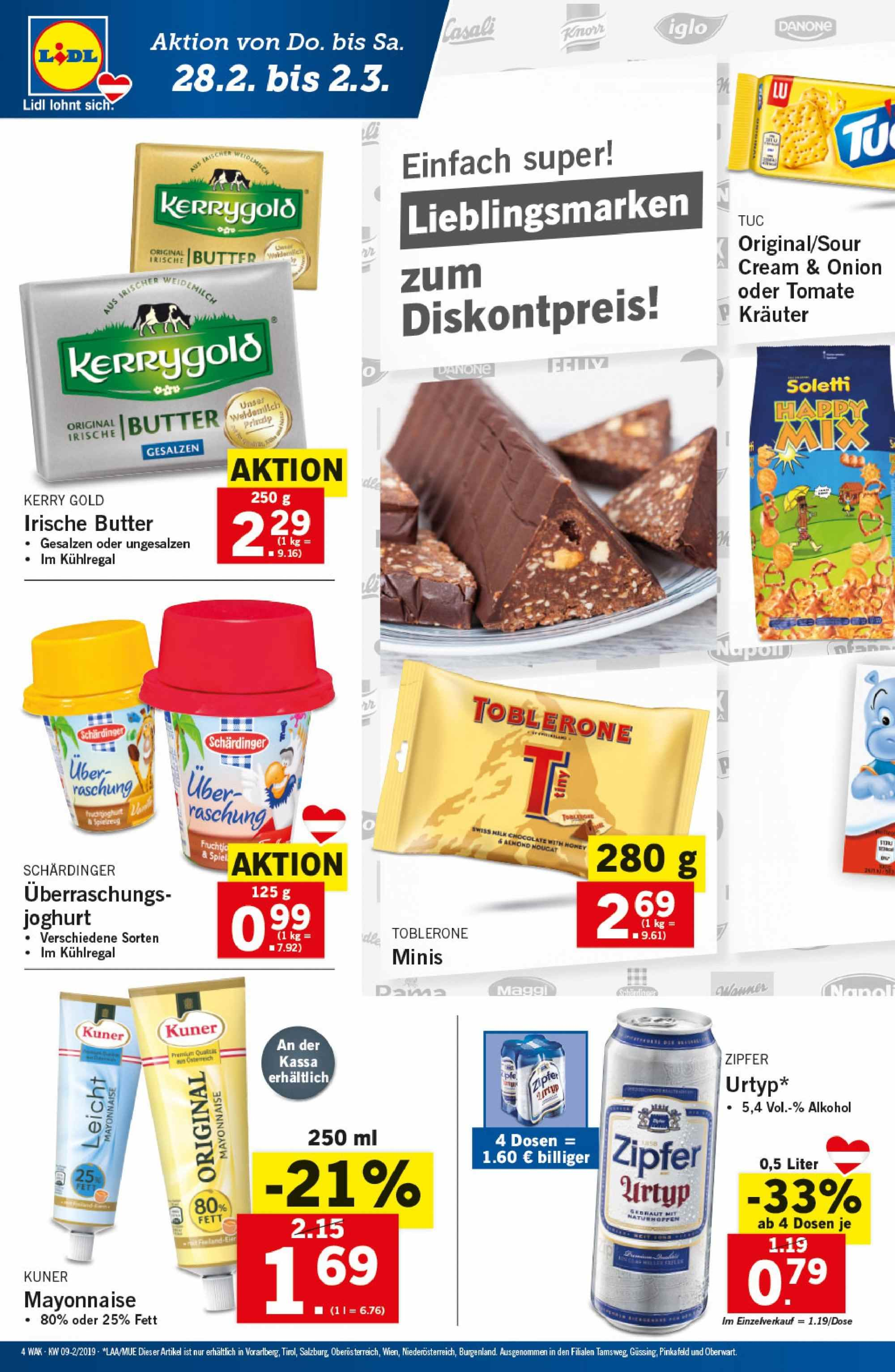 Angebote Lidl - 28.2.2019 - 6.3.2019. Seite 4.