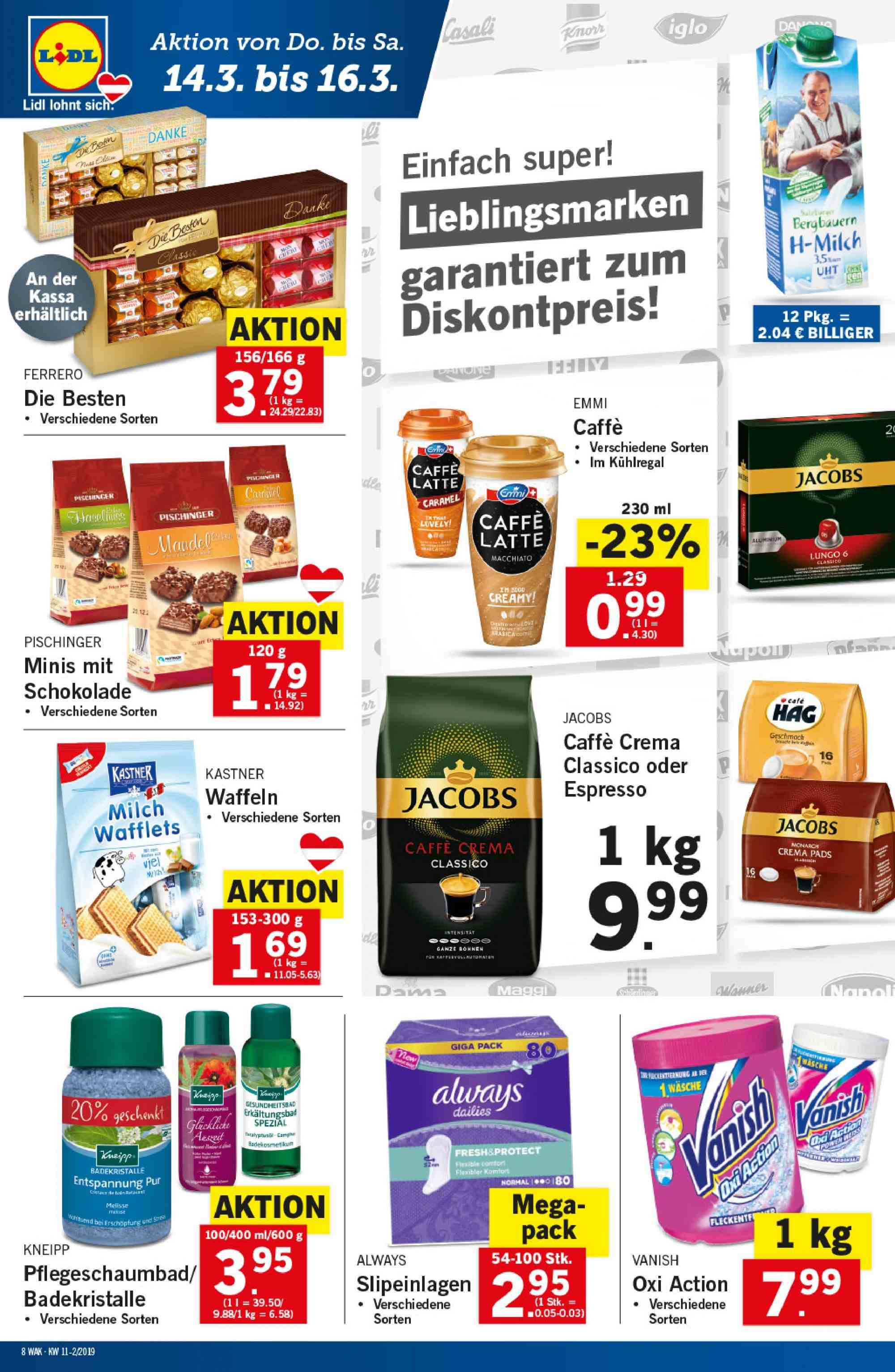 Angebote Lidl - 14.3.2019 - 20.3.2019. Seite 8.