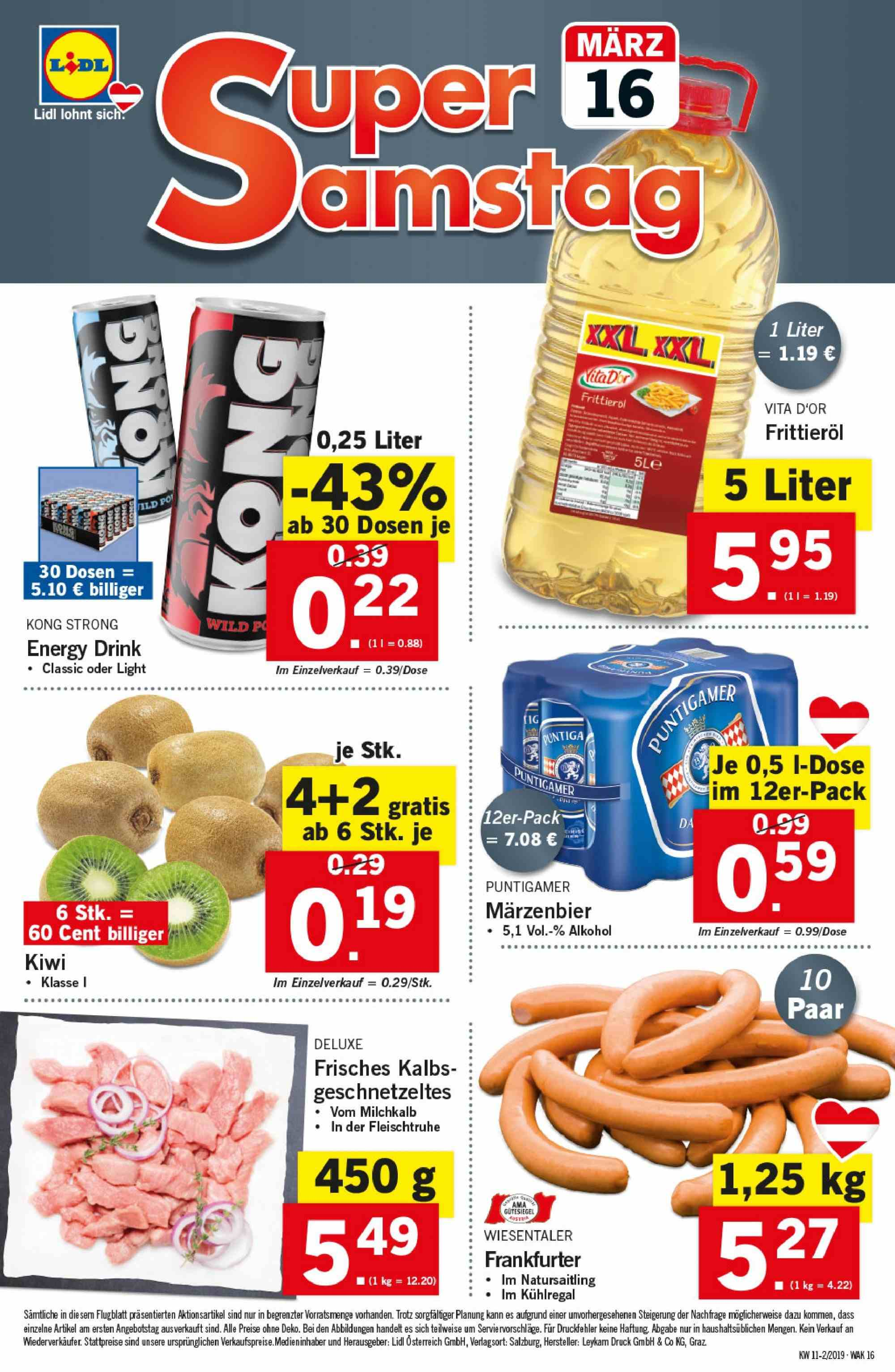 Angebote Lidl - 14.3.2019 - 20.3.2019. Seite 16.