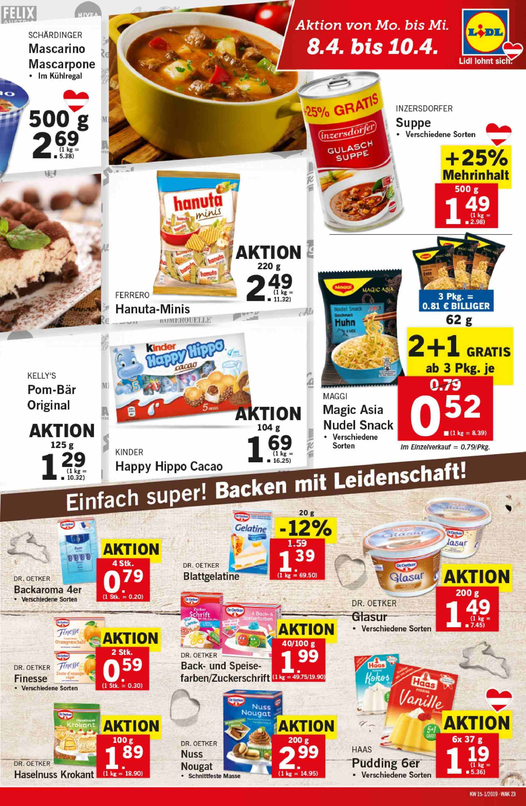Angebote Lidl - 4.4.2019 - 10.4.2019. Seite 23.