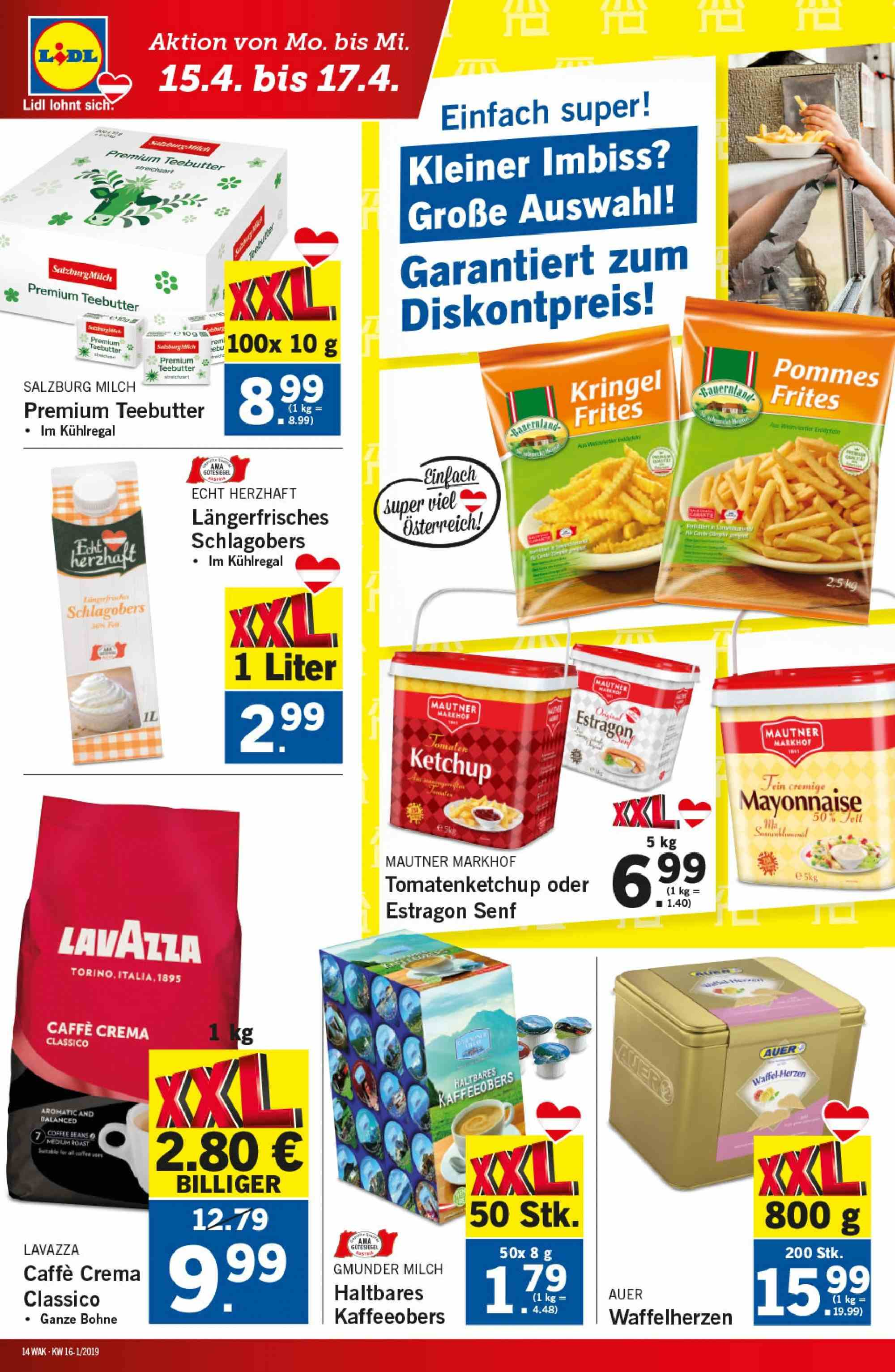Angebote Lidl - 11.4.2019 - 17.4.2019. Seite 14.