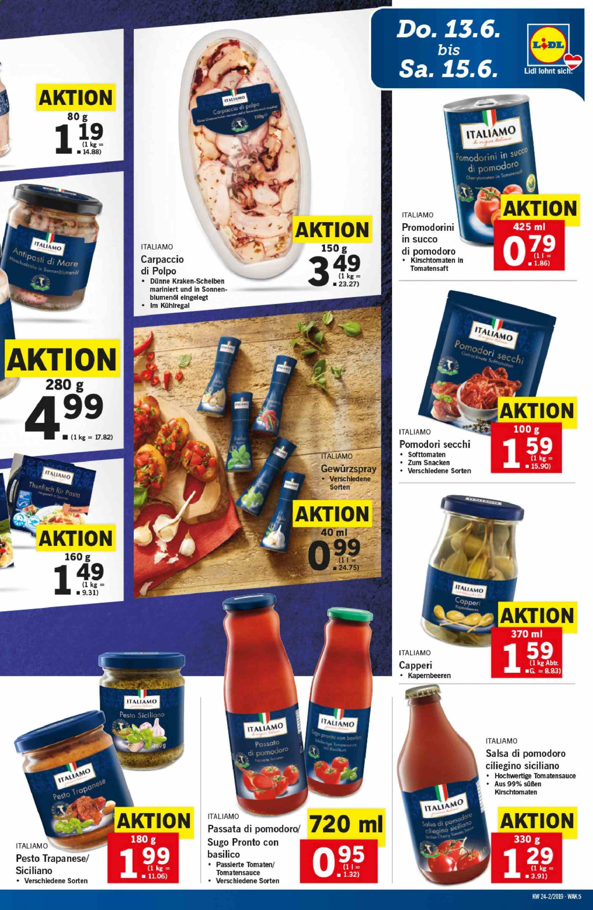 Angebote Lidl - 13.6.2019 - 19.6.2019. Seite 5.