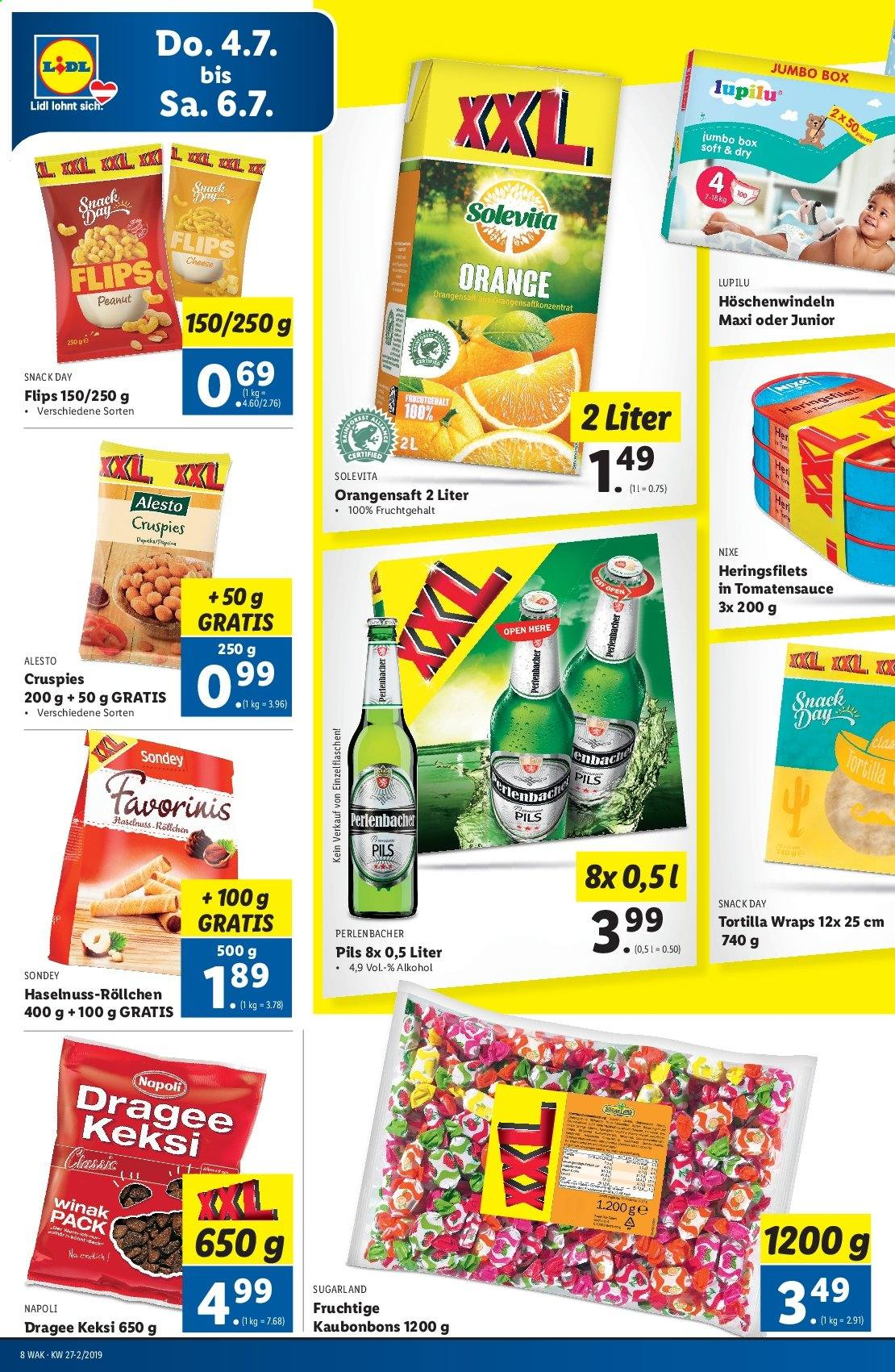 Angebote Lidl - 4.7.2019 - 10.7.2019. Seite 8.