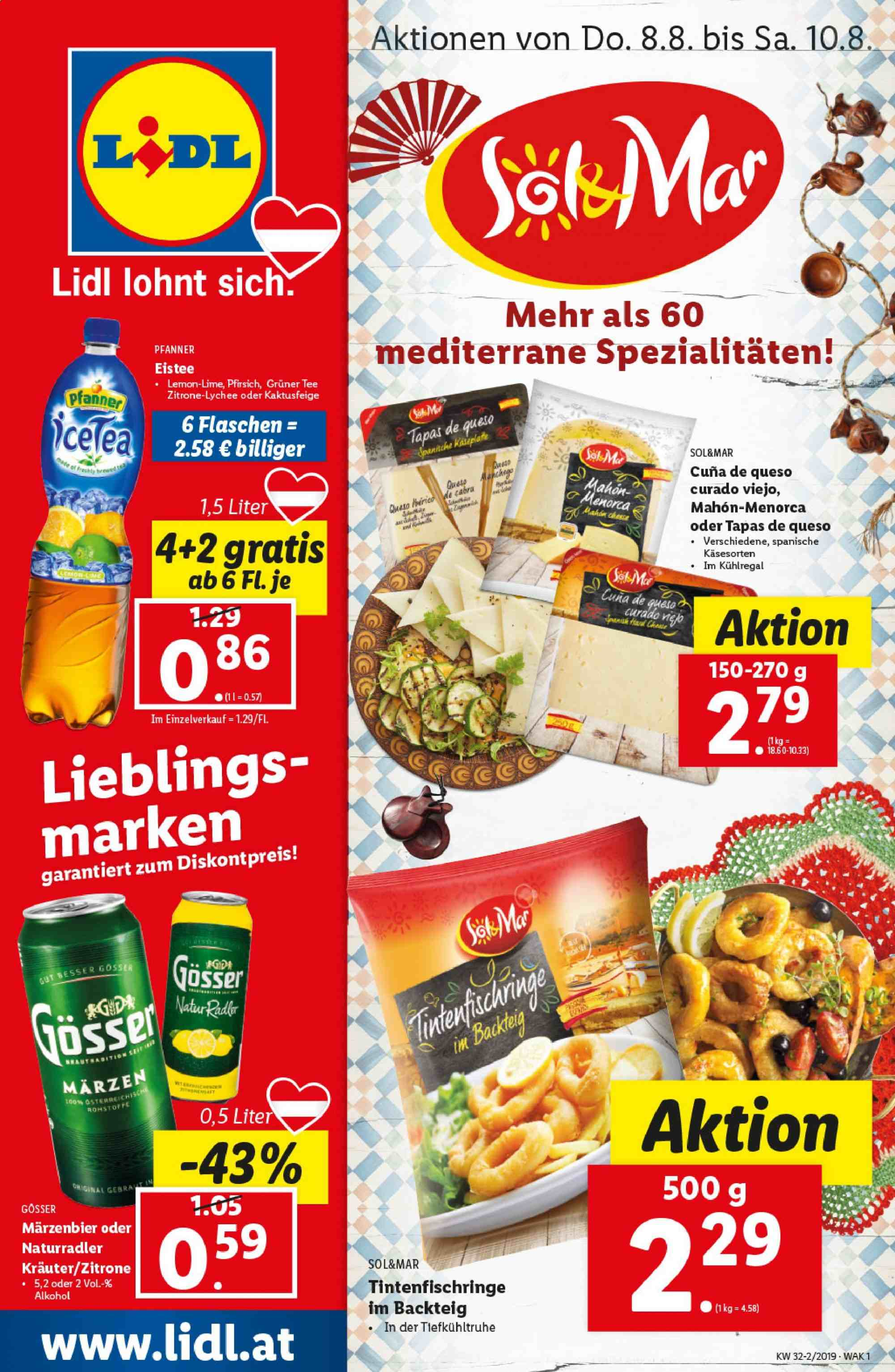 Angebote Lidl - 8.8.2019 - 14.8.2019. Seite 1.