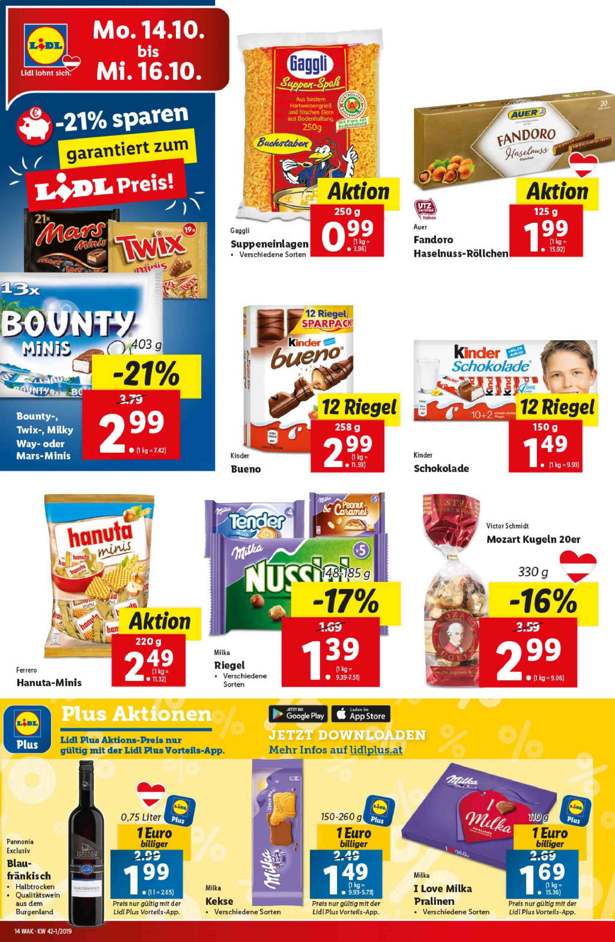 Angebote Lidl - 10.10.2019 - 16.10.2019. Seite 14.