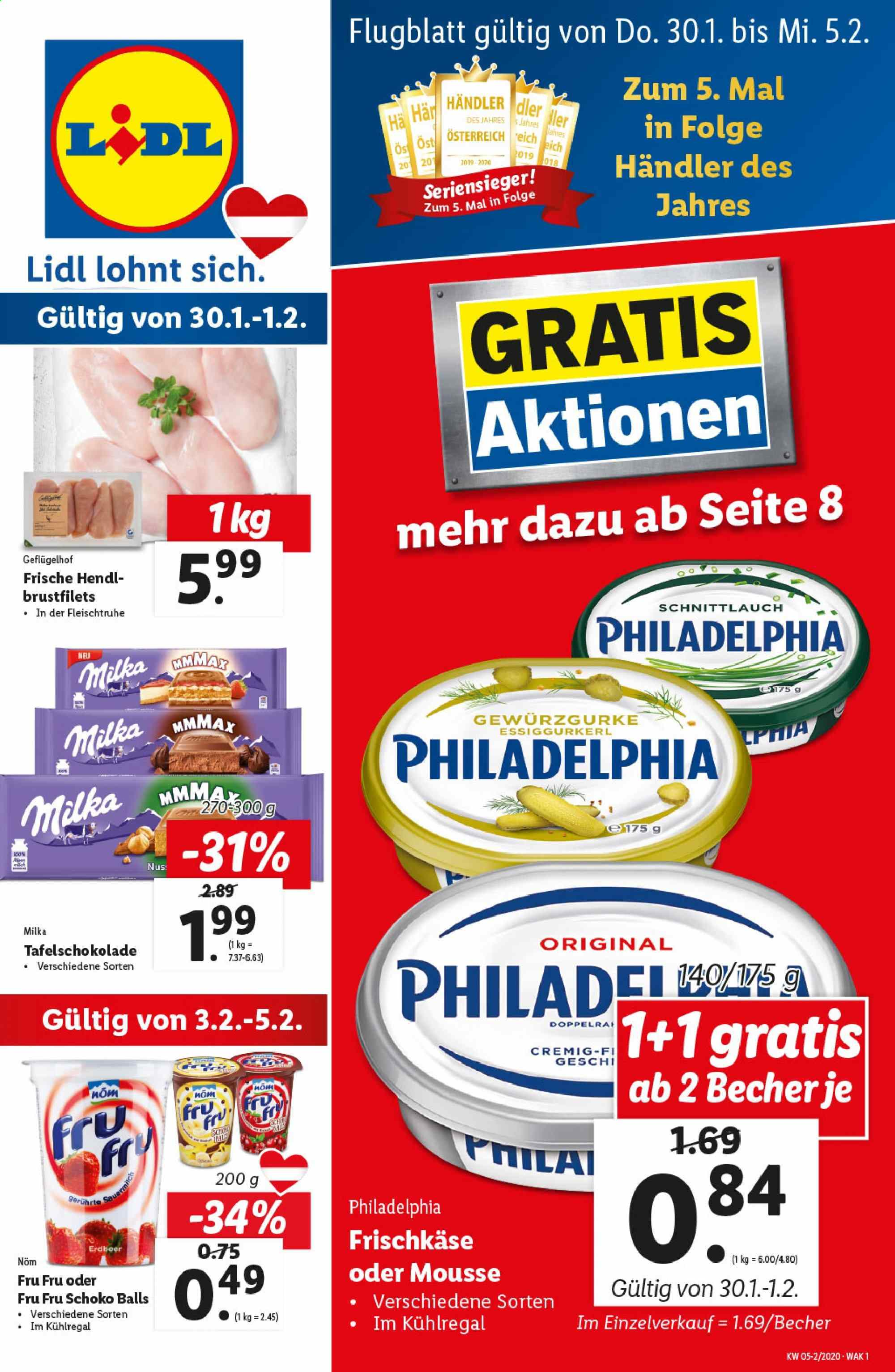 Angebote Lidl - 30.1.2020 - 5.2.2020. Seite 1.