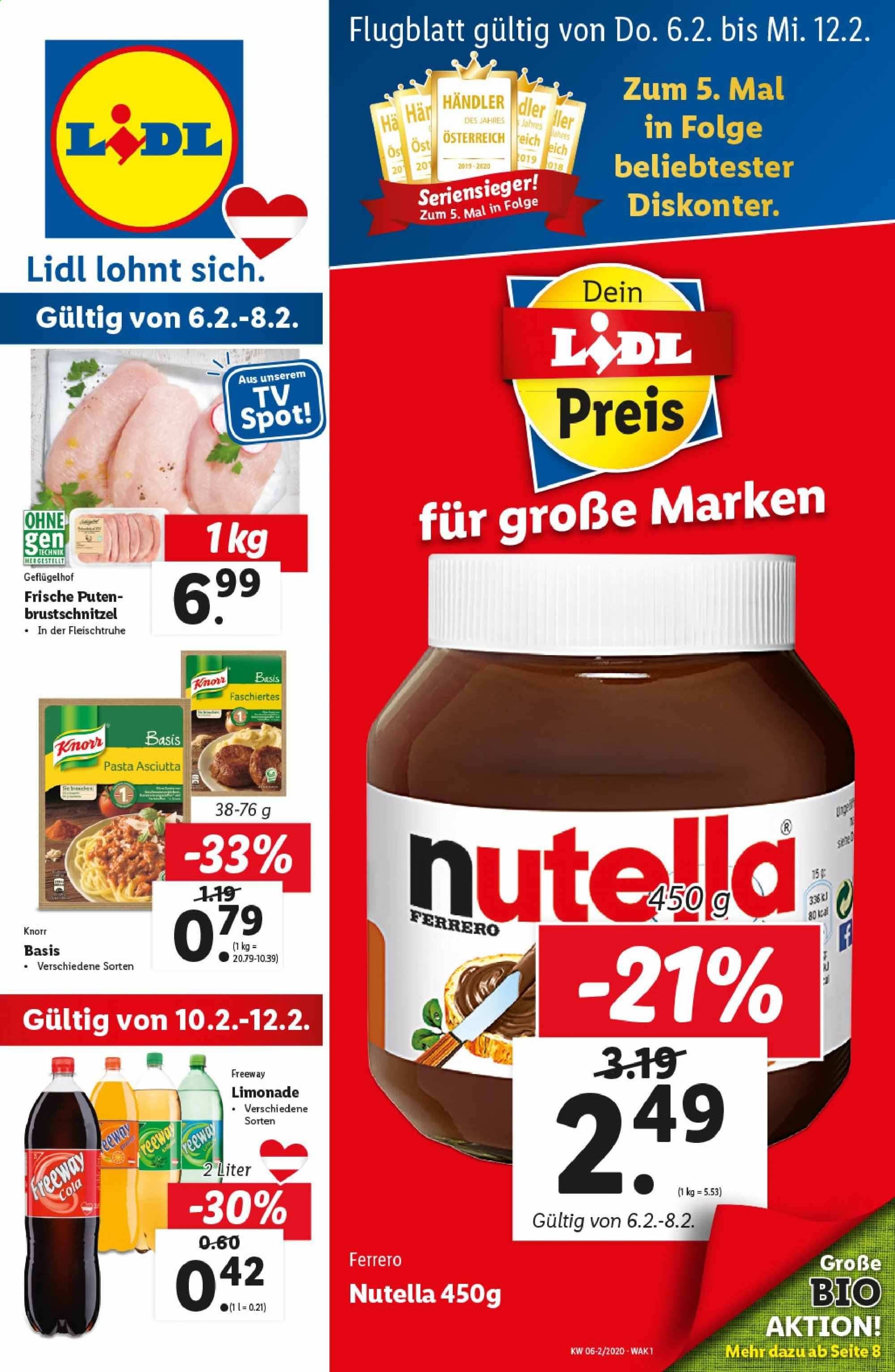 Angebote Lidl - 6.2.2020 - 12.2.2020. Seite 1.