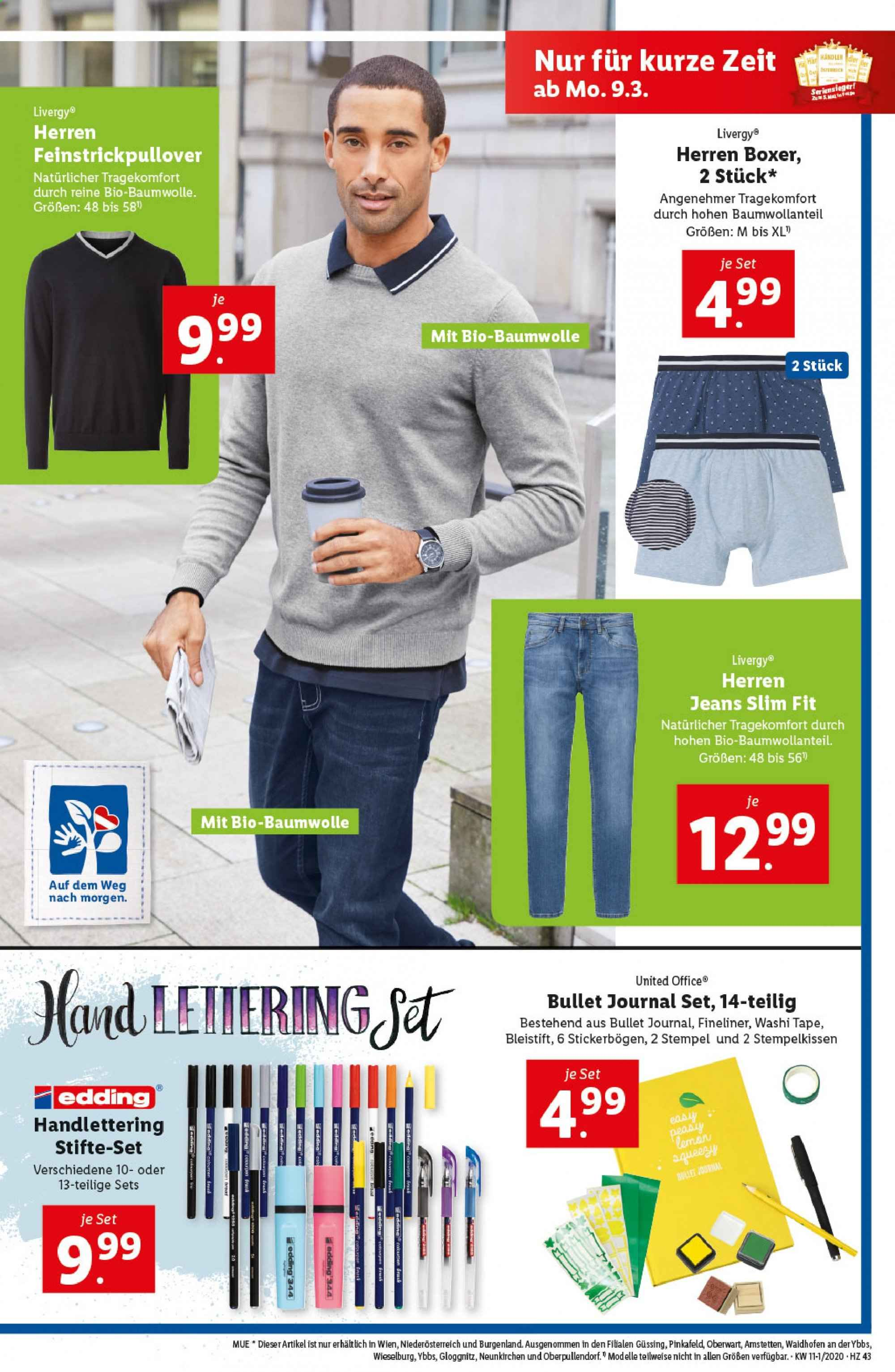 Angebote Lidl - 5.3.2020 - 11.3.2020. Seite 43.