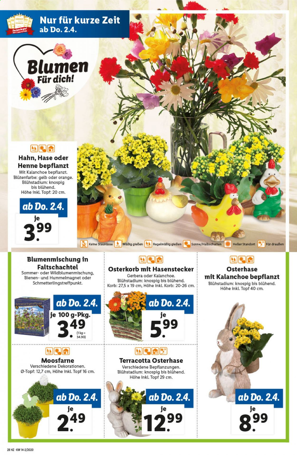 Angebote Lidl - 2.4.2020 - 8.4.2020. Seite 28.