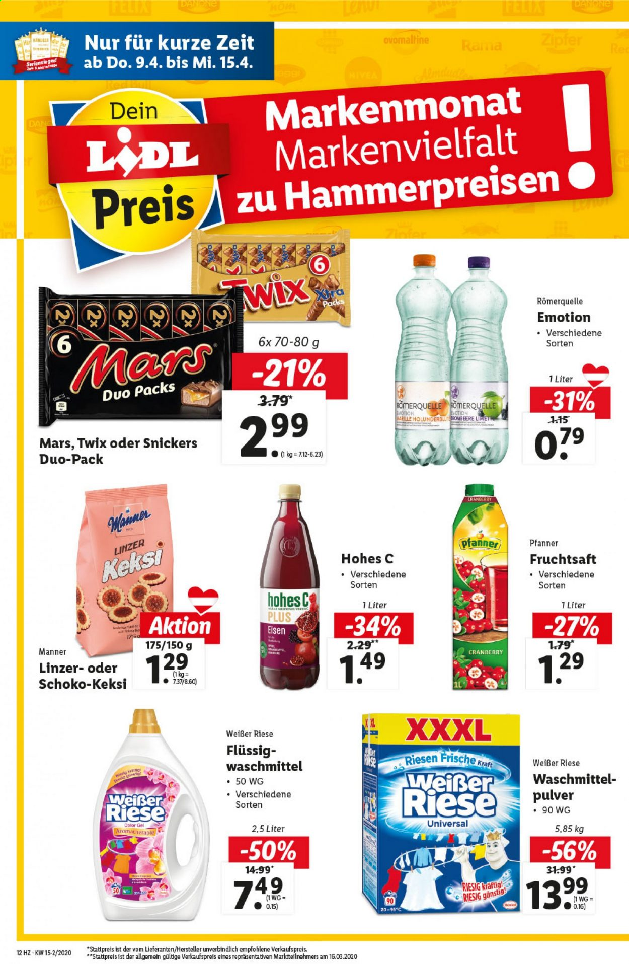 Angebote Lidl - 9.4.2020 - 15.4.2020. Seite 12.