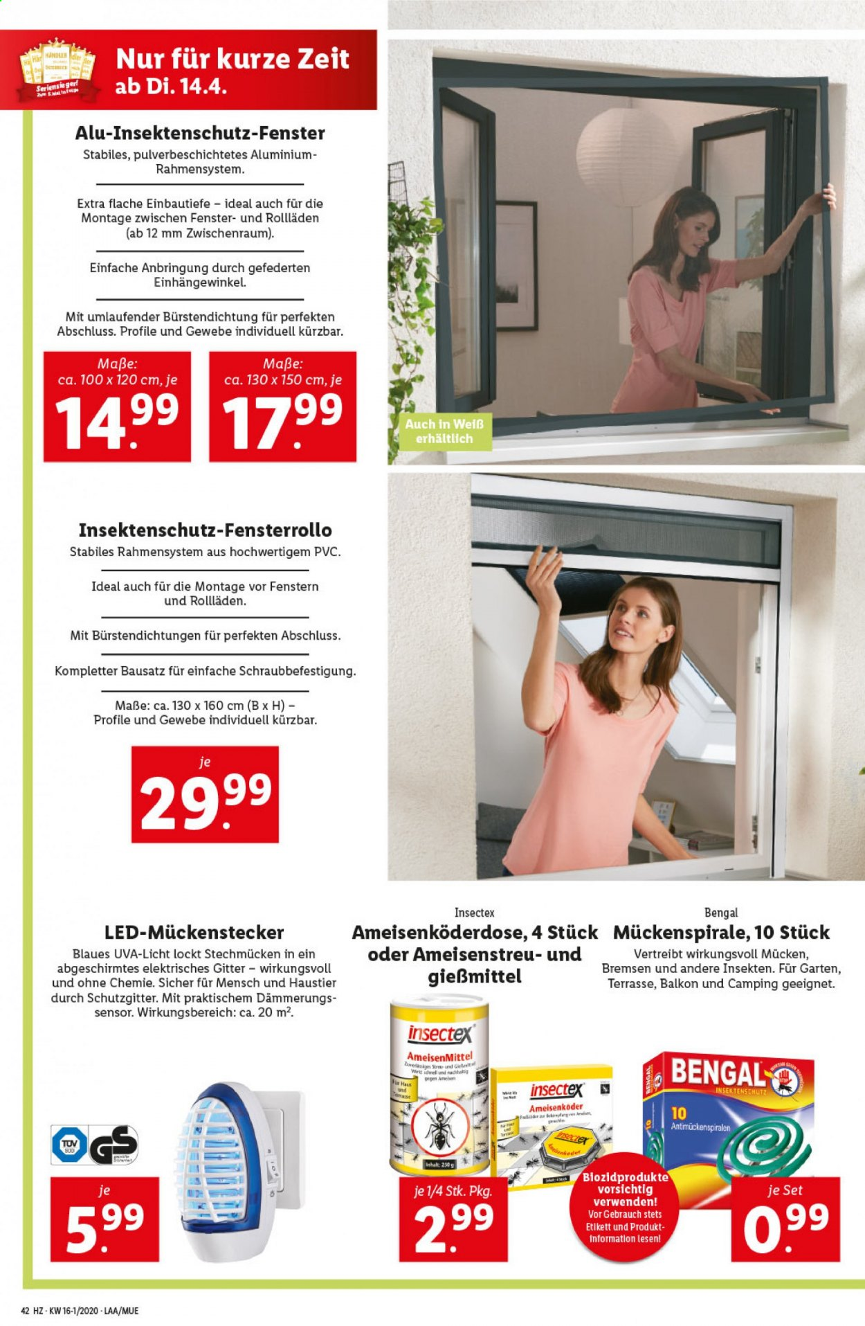Angebote Lidl - 9.4.2020 - 15.4.2020. Seite 42.