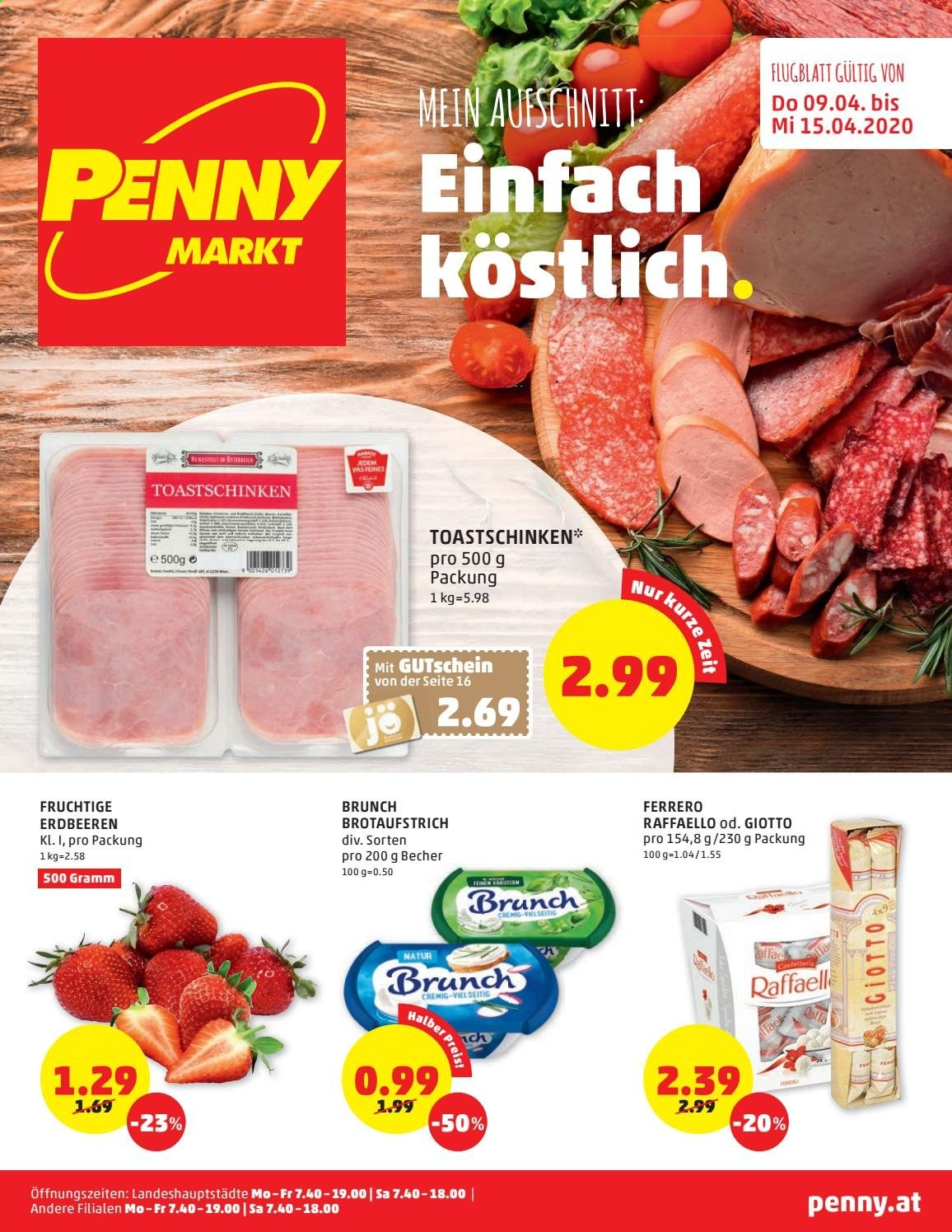 Angebote Penny - 9.4.2020 - 15.4.2020. Seite 1.