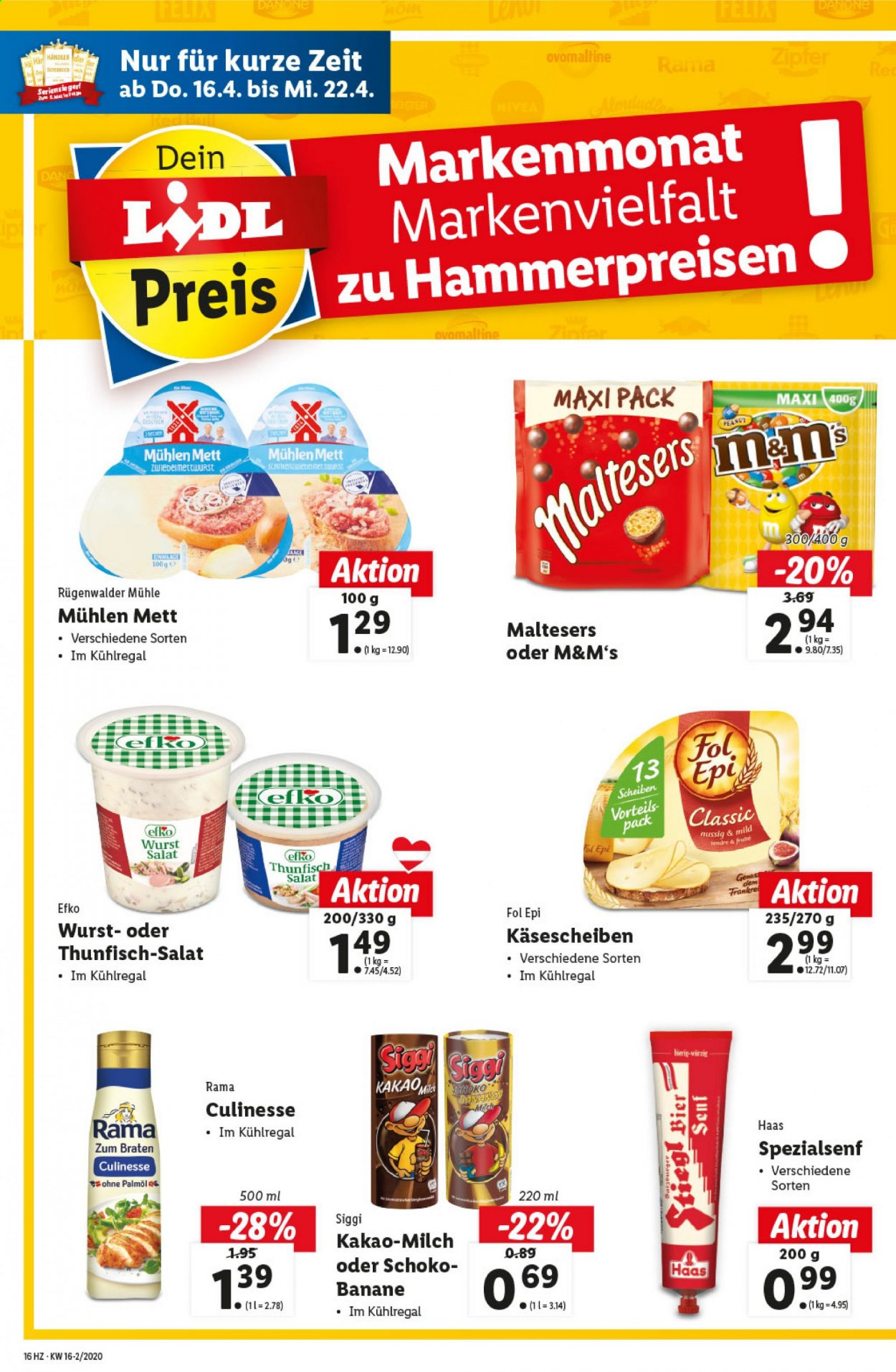 Angebote Lidl - 16.4.2020 - 22.4.2020. Seite 16.