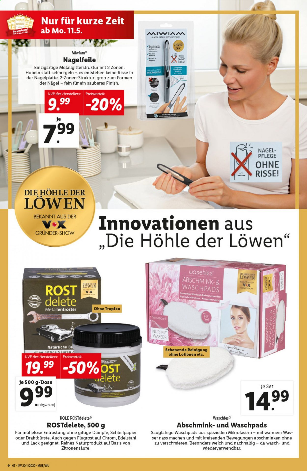 Angebote Lidl - 7.5.2020 - 13.5.2020. Seite 44.