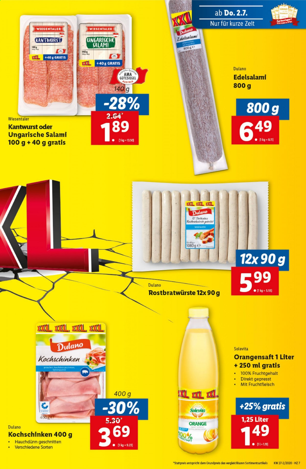 Angebote Lidl - 2.7.2020 - 8.7.2020. Seite 7.