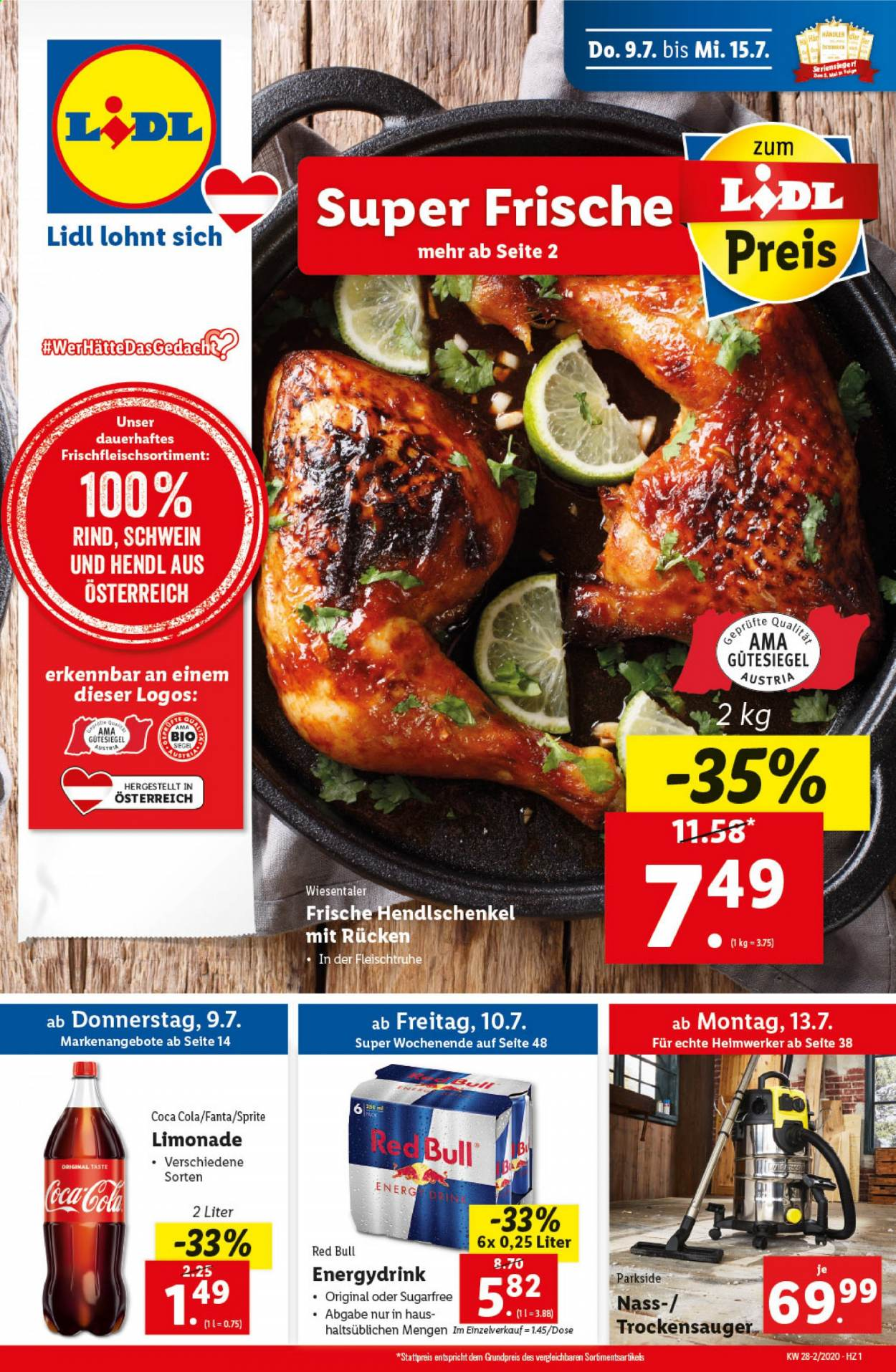 Angebote Lidl - 9.7.2020 - 15.7.2020. Seite 1.