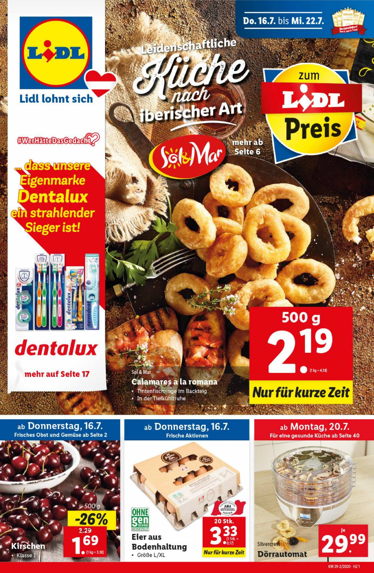 Angebote Lidl - 16.7.2020 - 22.7.2020. Seite 1.