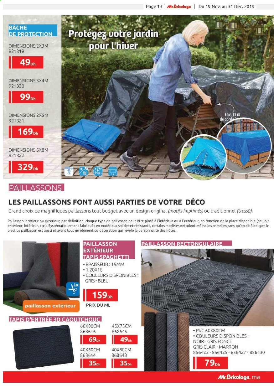 Catalogue Mr. Bricolage - 19/11/2019 - 31/12/2019. Page 13.