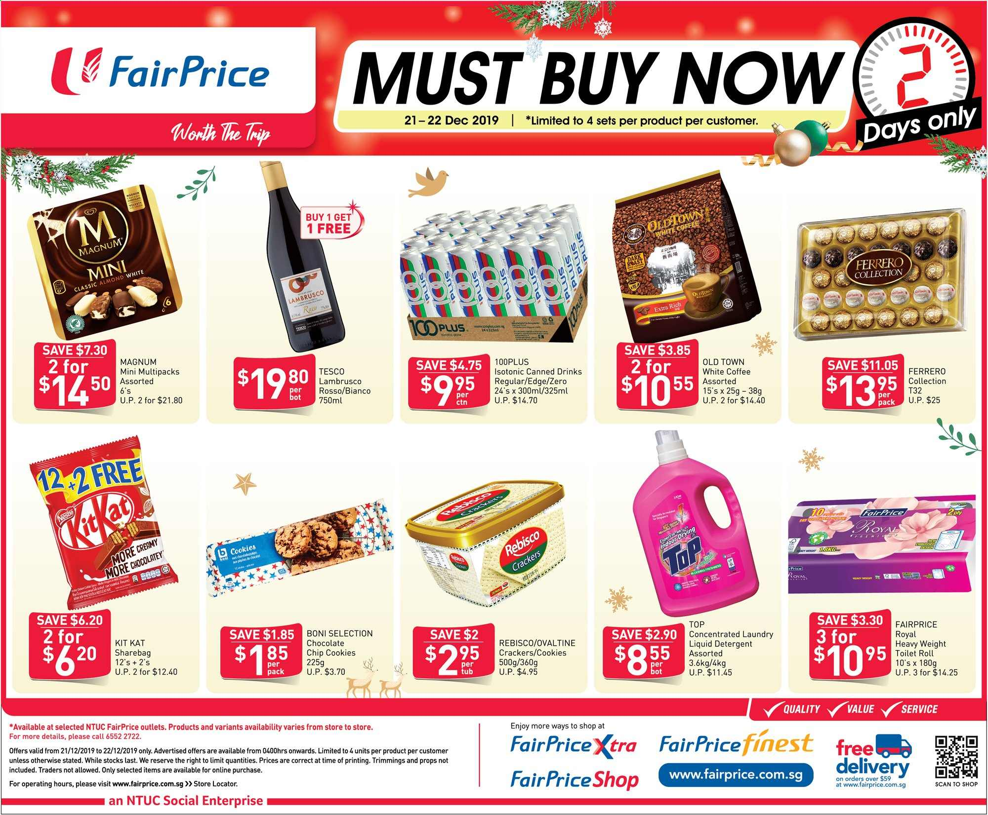 FairPrice catalogue  - 21.12.2019 - 22.12.2019. Page 1.