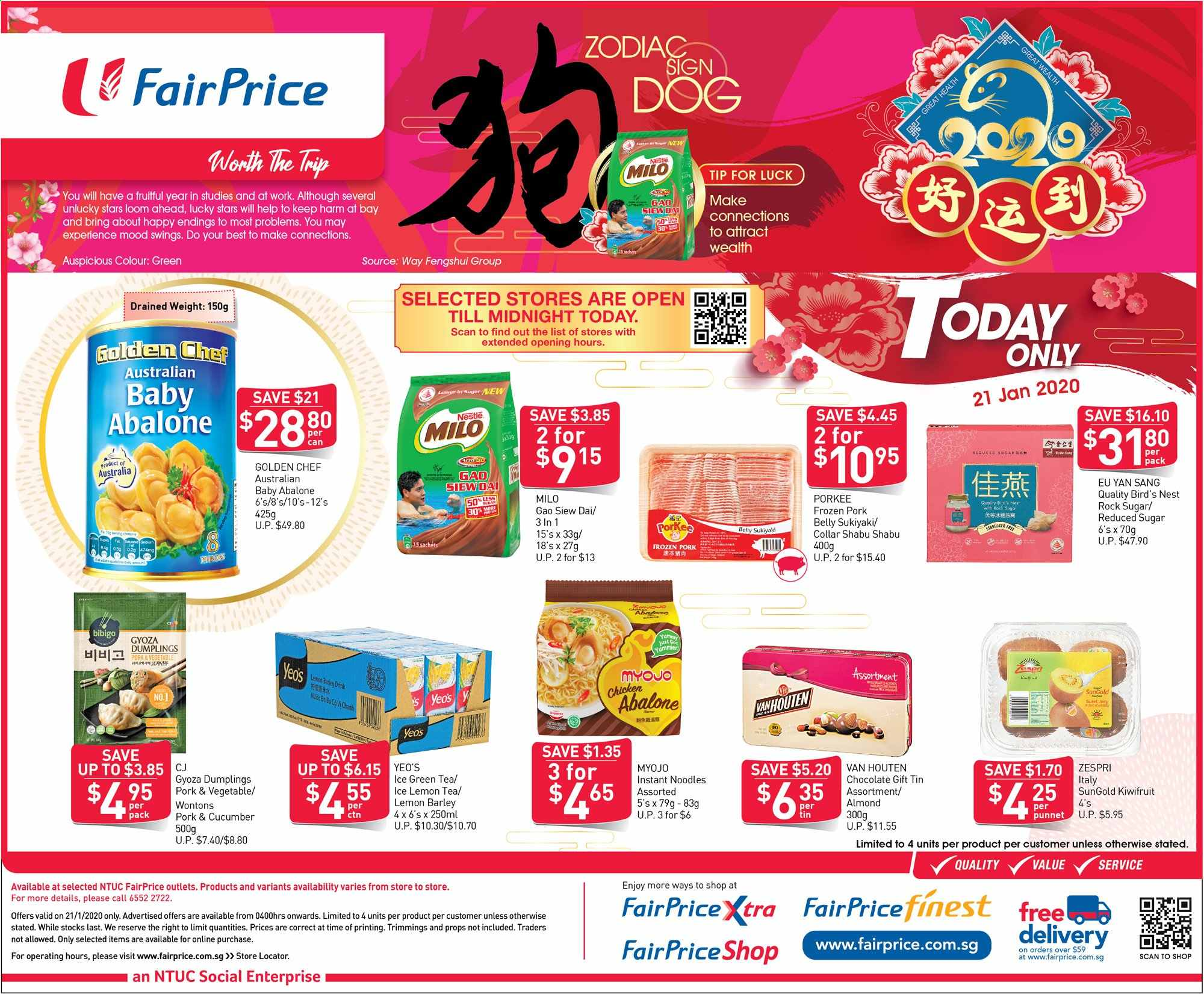 FairPrice catalogue  - 21.01.2020 - 21.01.2020. Page 1.