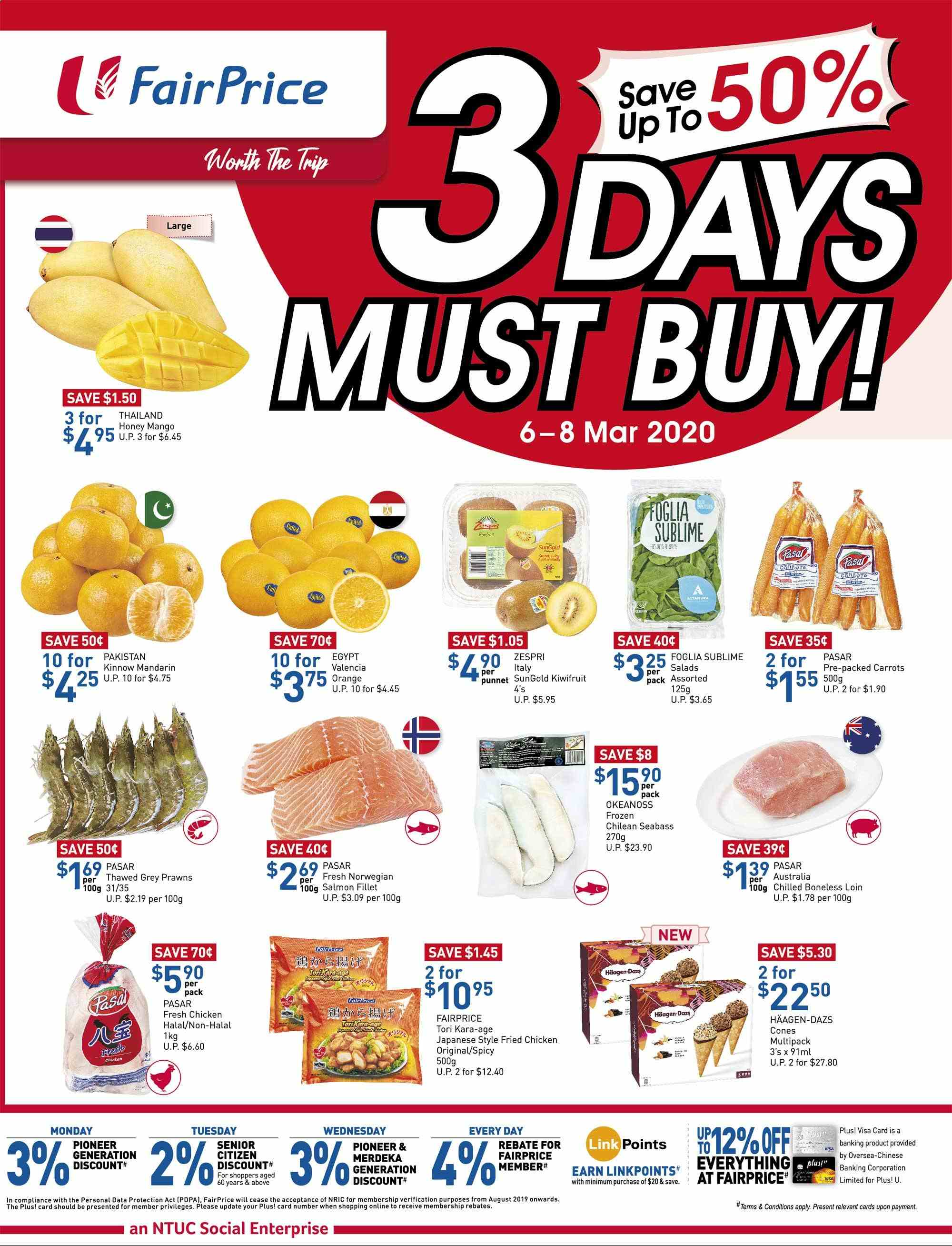 FairPrice catalogue  - 06.03.2020 - 08.03.2020. Page 1.
