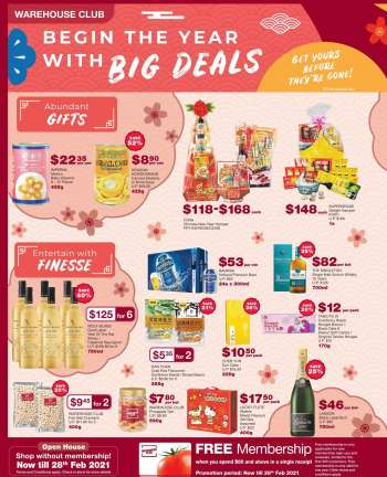 Warehouse Club promotion