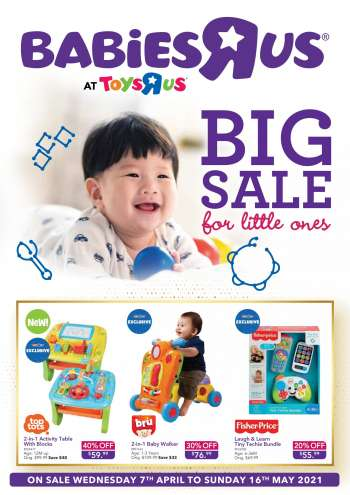 "Toys""R""Us catalogue  - 07.04.2021 - 16.05.2021."