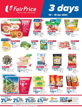 FairPrice catalogue  - 16.04.2021 - 18.04.2021.