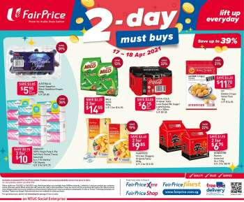 FairPrice catalogue  - 17.04.2021 - 18.04.2021.