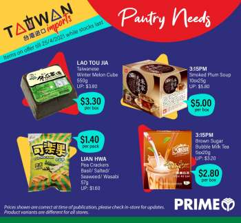 Prime Supermarket catalogue  - 06.04.2021 - 25.04.2021.