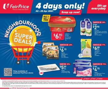 FairPrice catalogue  - 22.04.2021 - 25.04.2021.