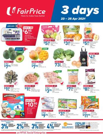 FairPrice catalogue  - 23.04.2021 - 25.04.2021.