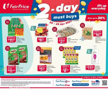 FairPrice catalogue  - 24.04.2021 - 25.04.2021.