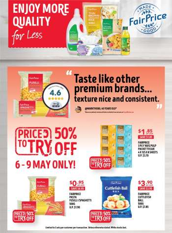 FairPrice catalogue  - 06.05.2021 - 09.05.2021.