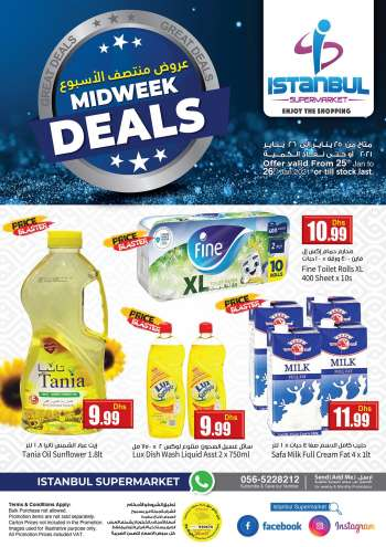 Istanbul Supermarket offer  - 25/01/2021 - 26/01/2021.