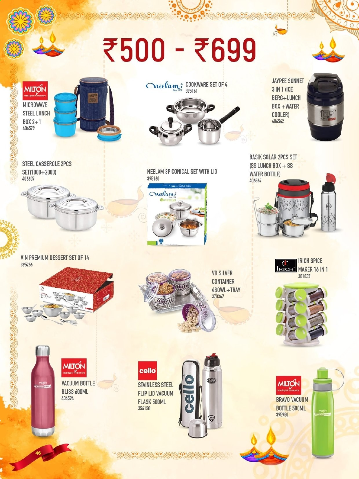 <retailer> - <MM.DD.YYYY - MM.DD.YYYY> - Sales products - ,<products from flyers>. Page 46.