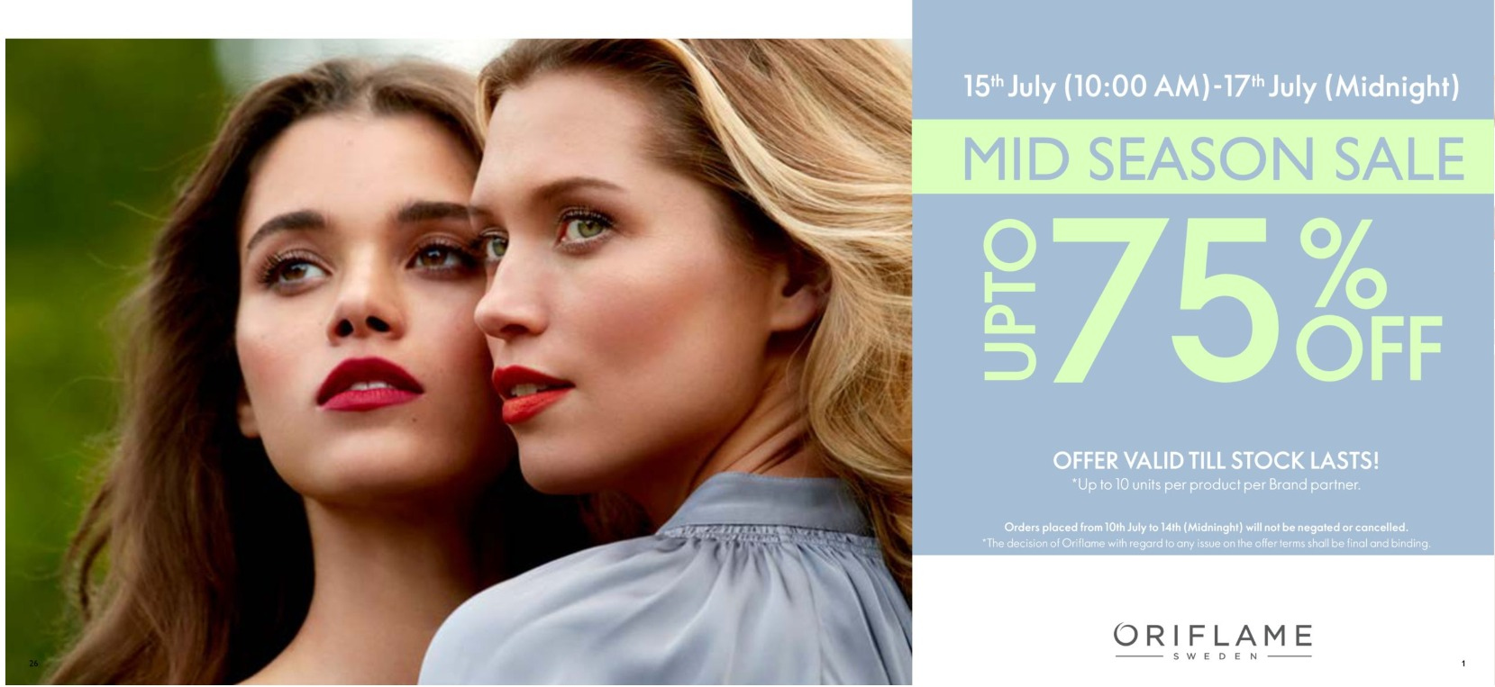 Oriflame offer  - 15.07.2020 - 17.07.2020. Page 1.