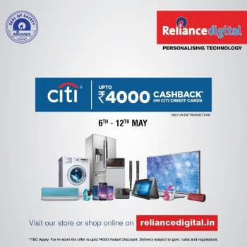 Reliance Digital offer  - 06.05.2021 - 12.05.2021.