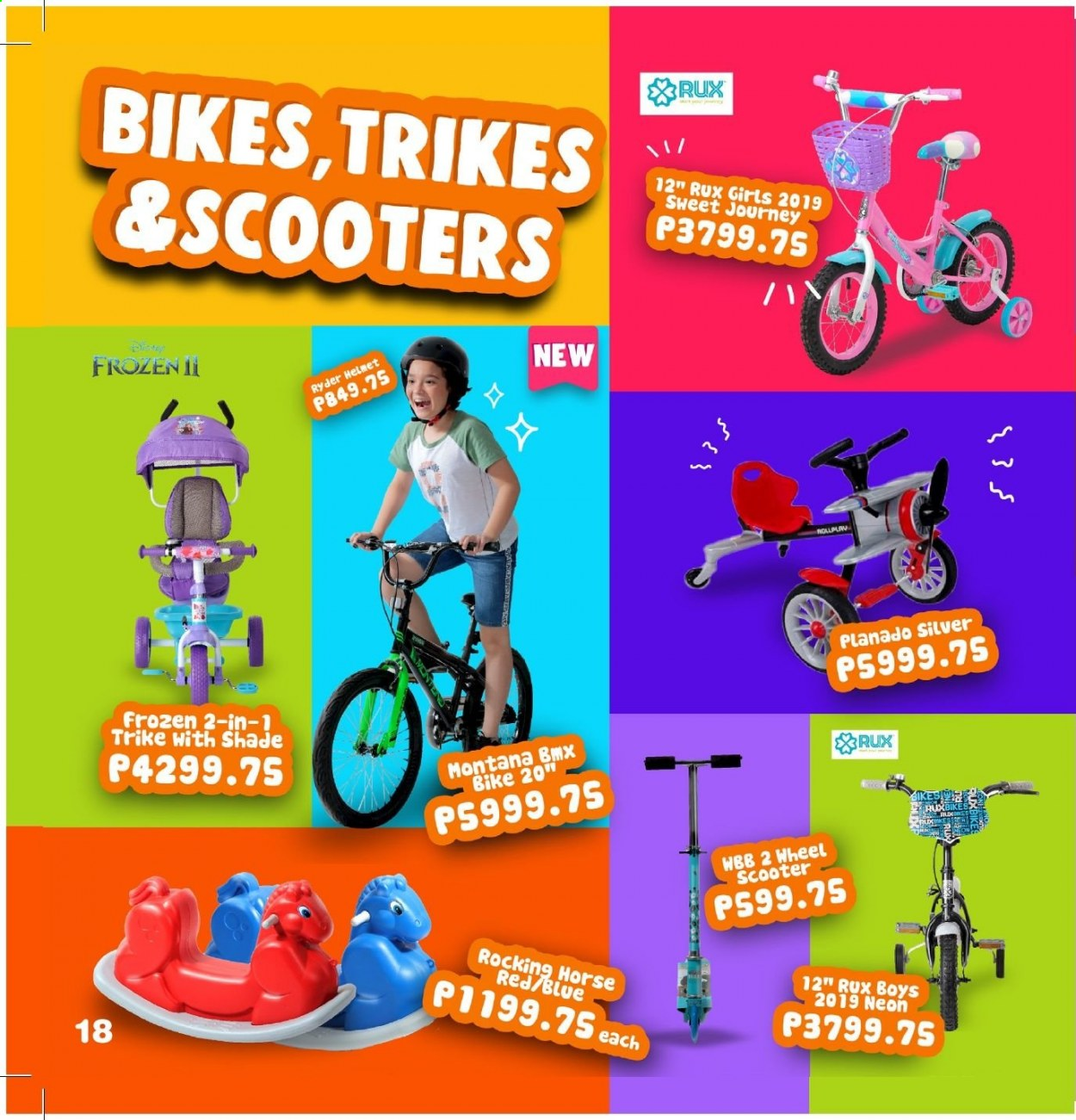 Toy Kingdom offer  - Sales products - helmet, bike. Page 18.