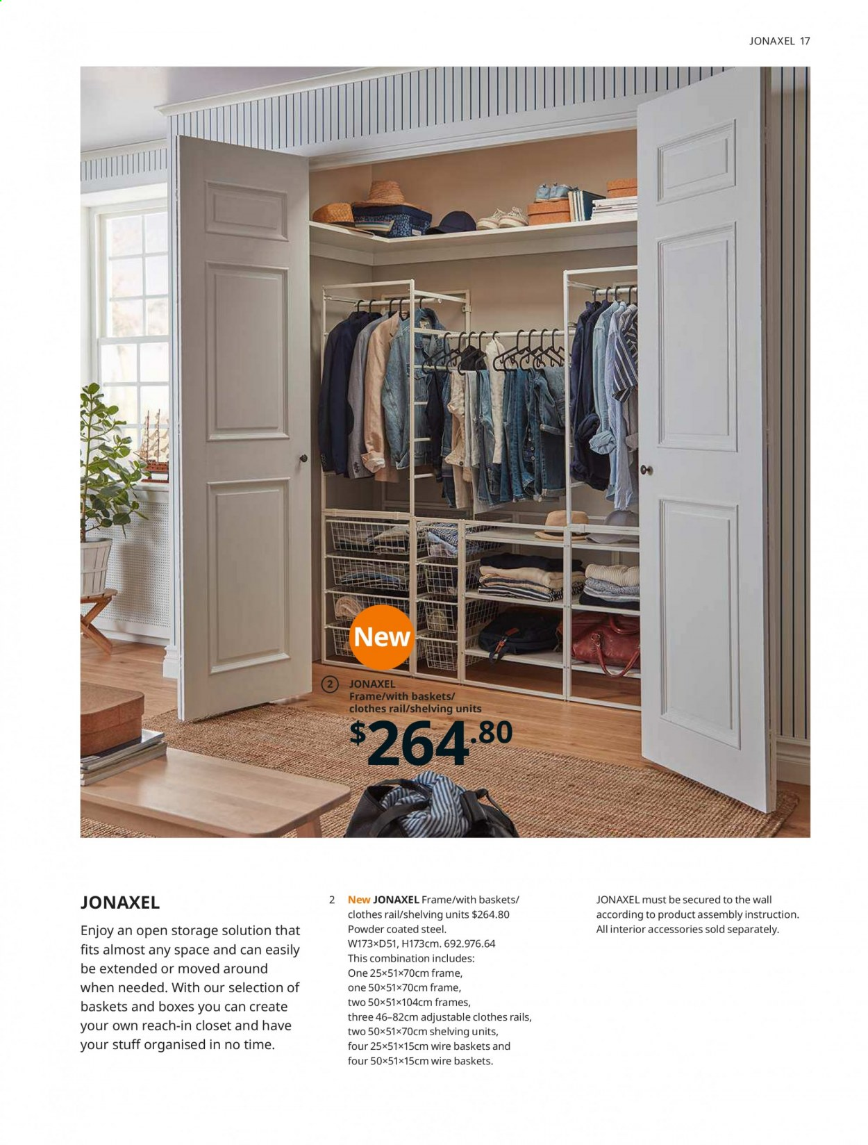 IKEA offer  - 1.4.2020 - 31.7.2020 - Sales products - basket, box, shelf, shelves, hook, powder. Page 17.