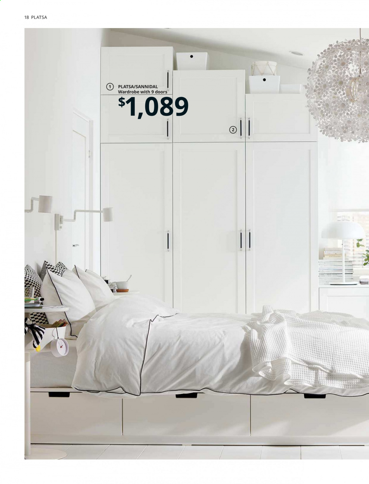 IKEA offer  - 1.4.2020 - 31.7.2020 - Sales products - door, mirror, shelf, shelves, wardrobe, powder. Page 18.