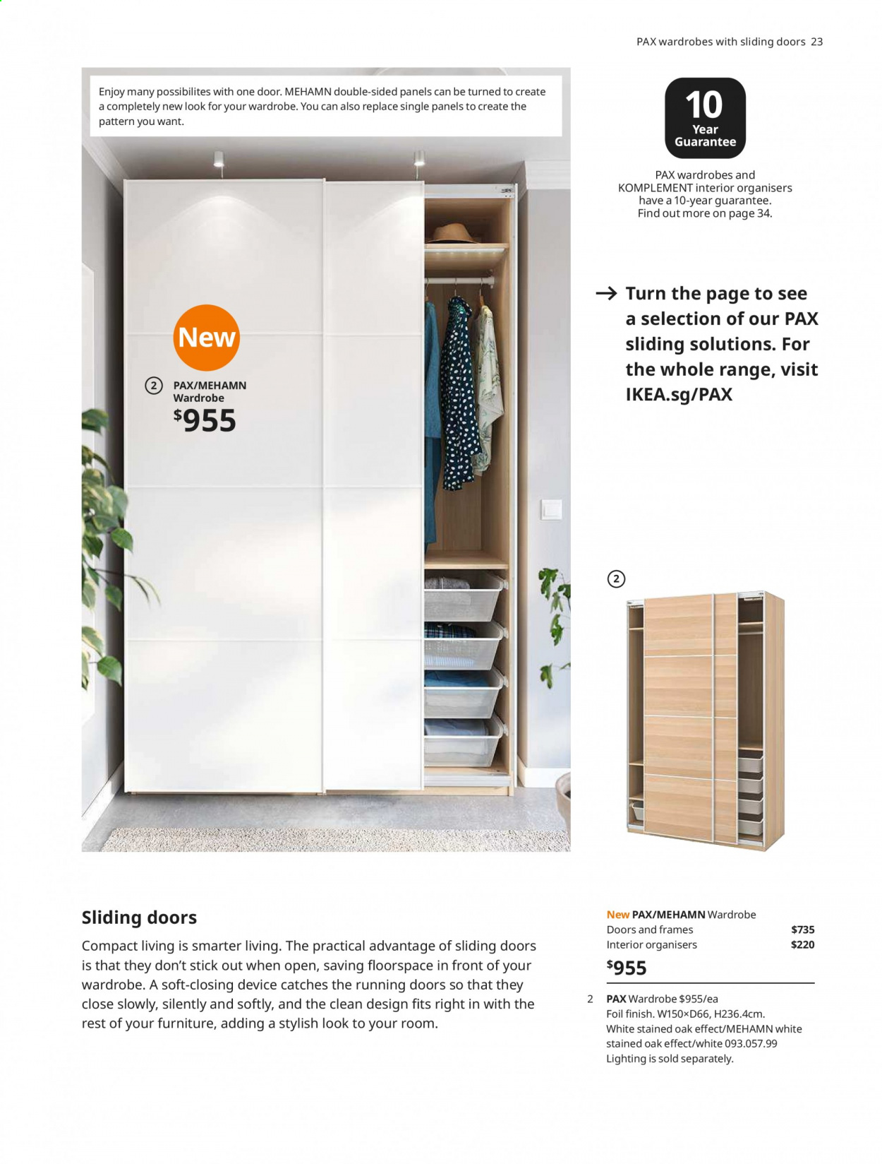 IKEA offer  - 1.4.2020 - 31.7.2020 - Sales products - door, Furniture, wardrobe, handles. Page 23.