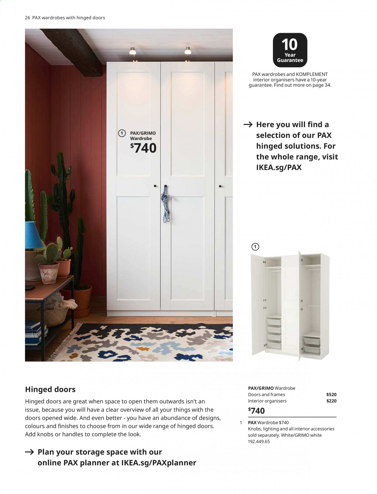 IKEA offer  - 1.4.2020 - 31.7.2020 - Sales products - door, glass, mirror, wardrobe, handles. Page 26.
